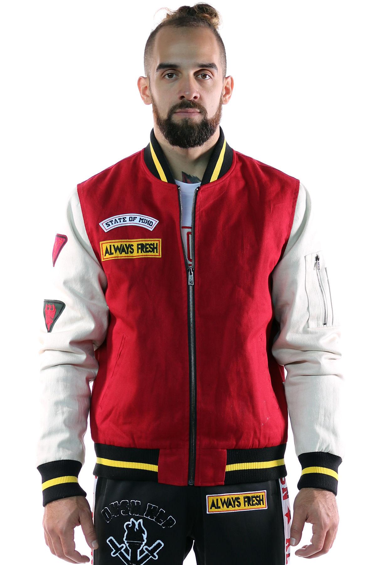 Image of KLEEP Men's Premium Padded Twill bomber jacket.