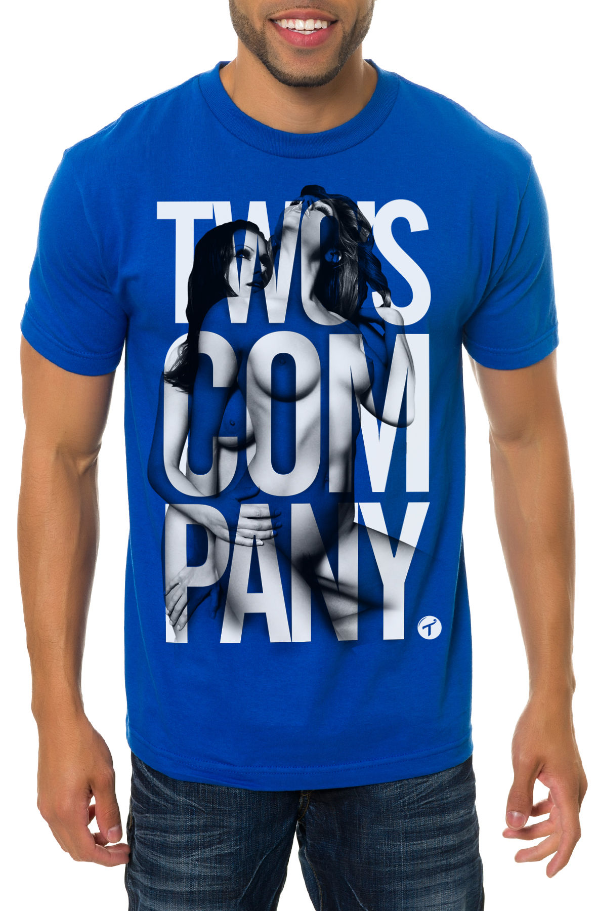 Image of The Two's Company Tee in Blue