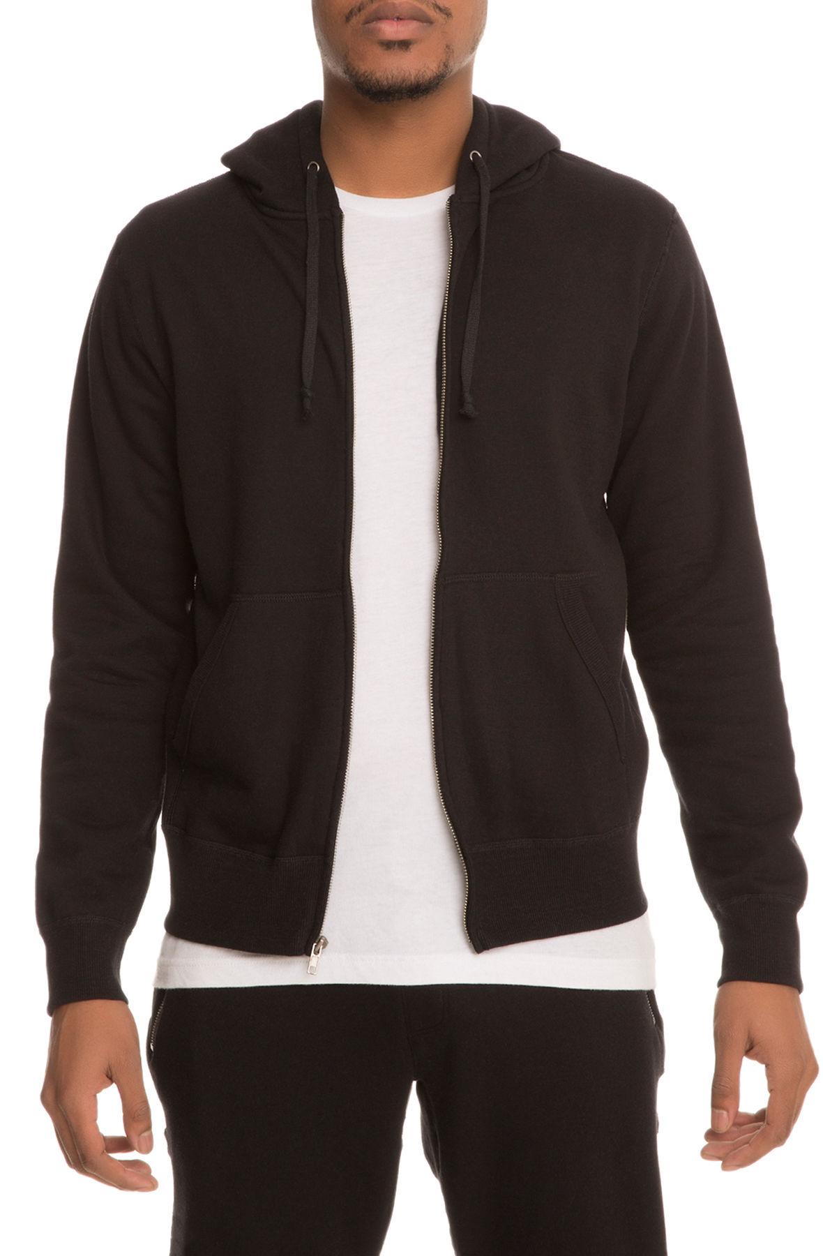 The EN x Karmaloop In A State Zip Up Hoodie in Black