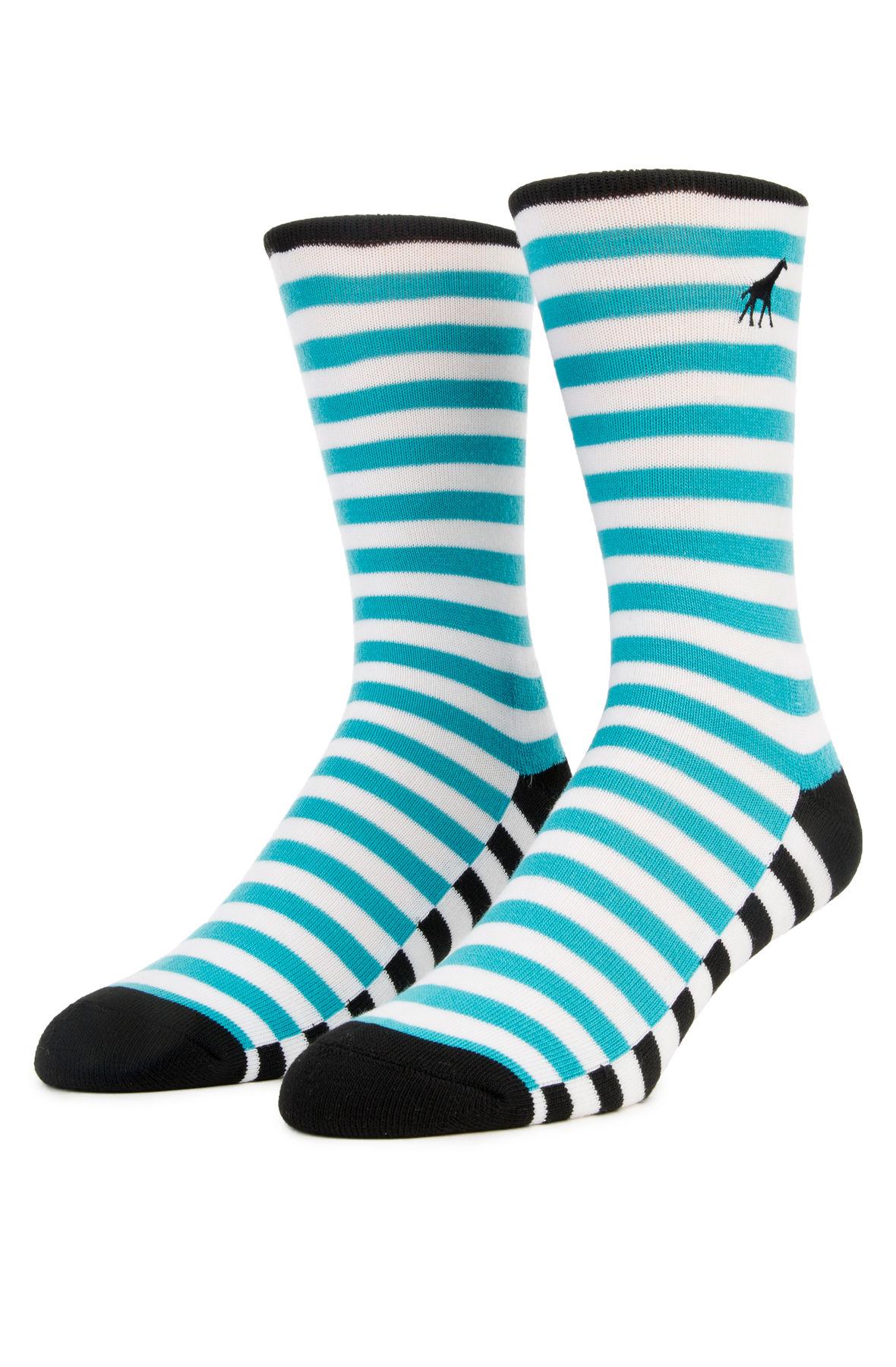 Image of The LRGeneration Teal Stripe Socks