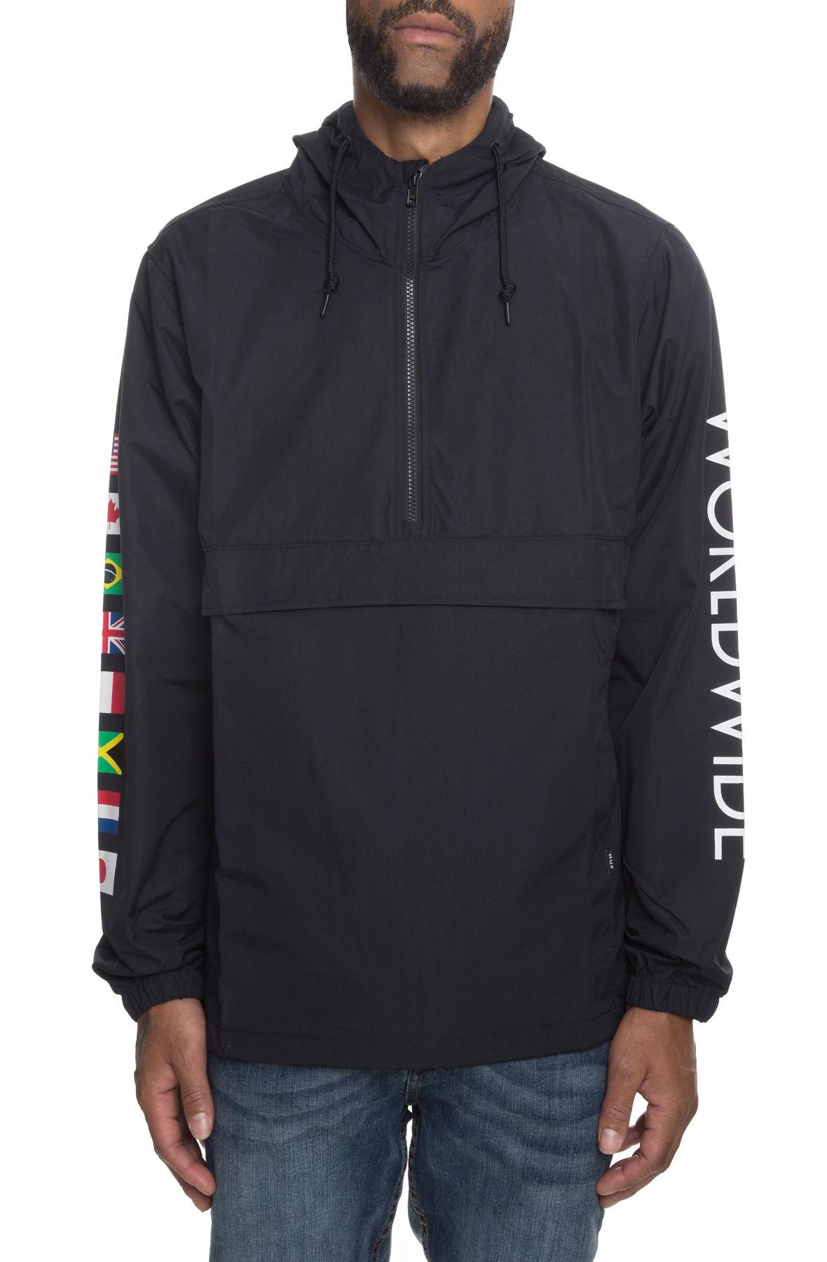 f65a6a9aa8 huf flags black hoodie