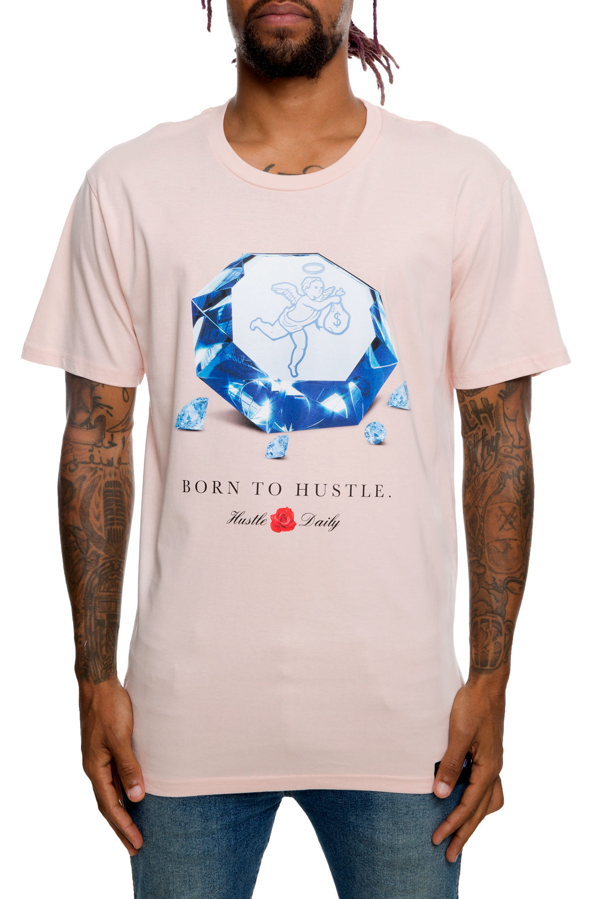 The Diamonds Tee in Pink