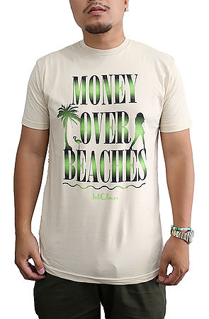 Image of Money Over Beaches T Shirt in Tan