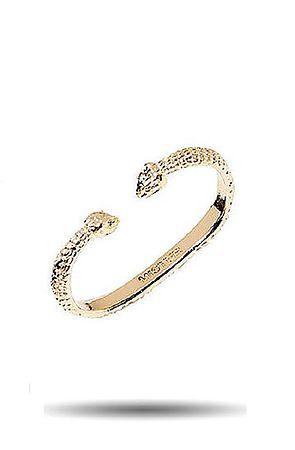 the 2 finger snake ring in gold