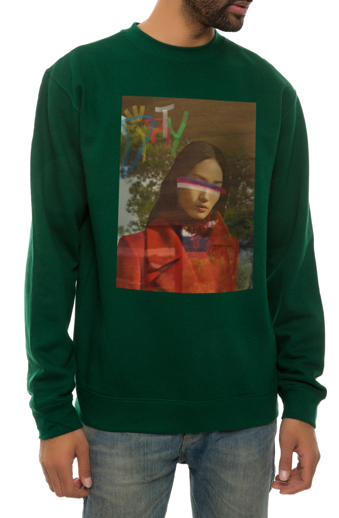 Image of The Lust 70 Crewneck Sweatshirt in Green