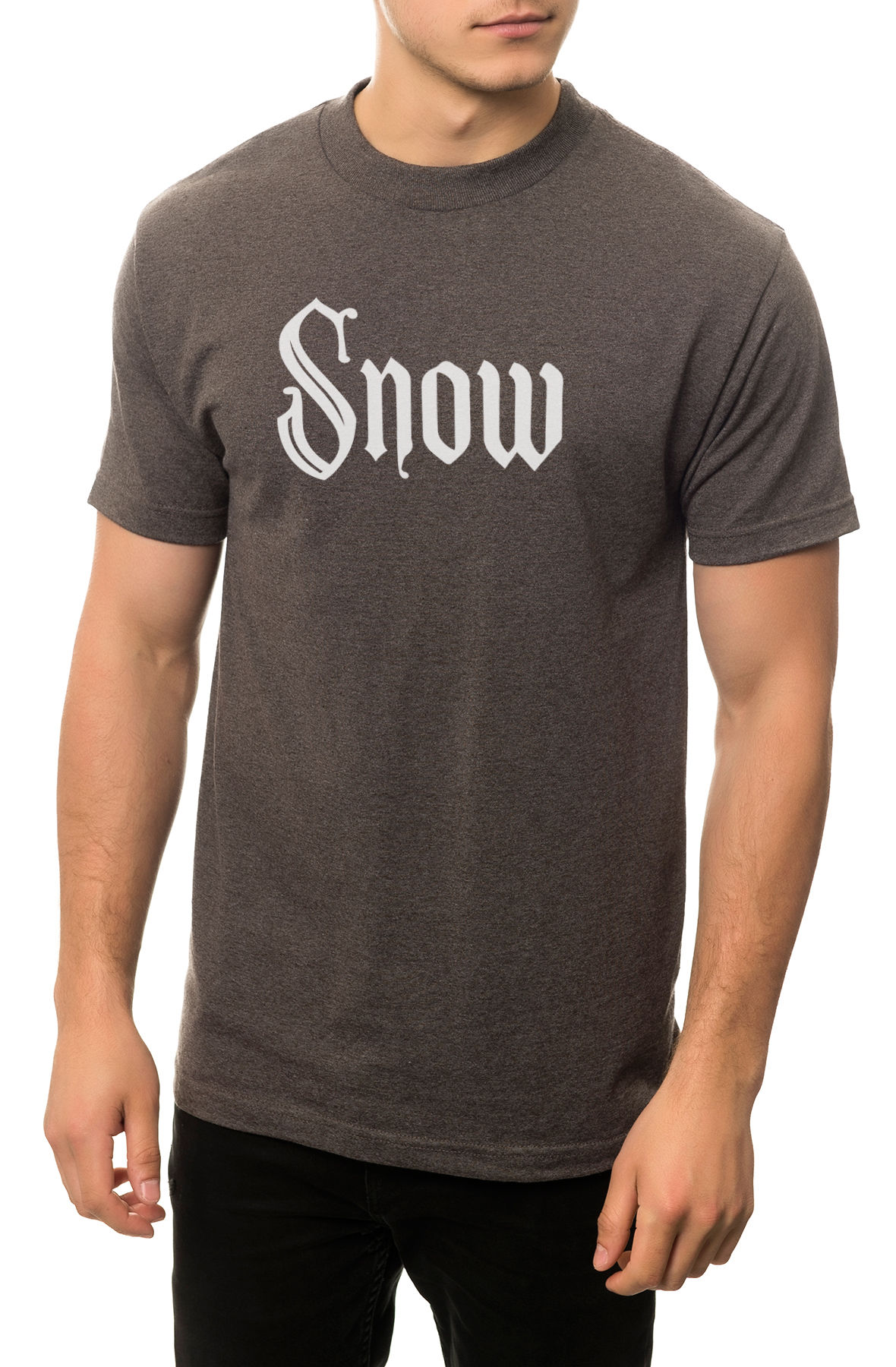 Image of The Snow Girl Tee in Charcoal Heather