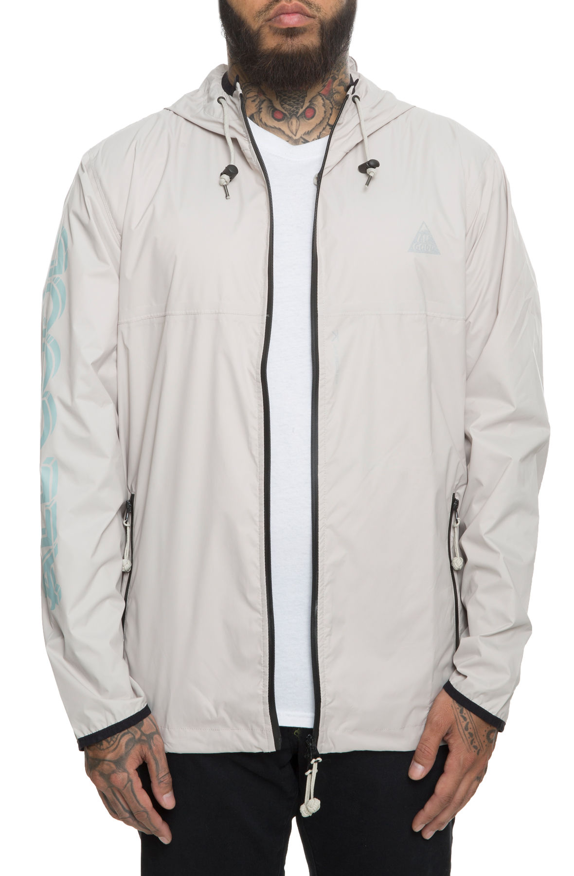Image of The Jet Setter Descent Jacket in Silver and Mint