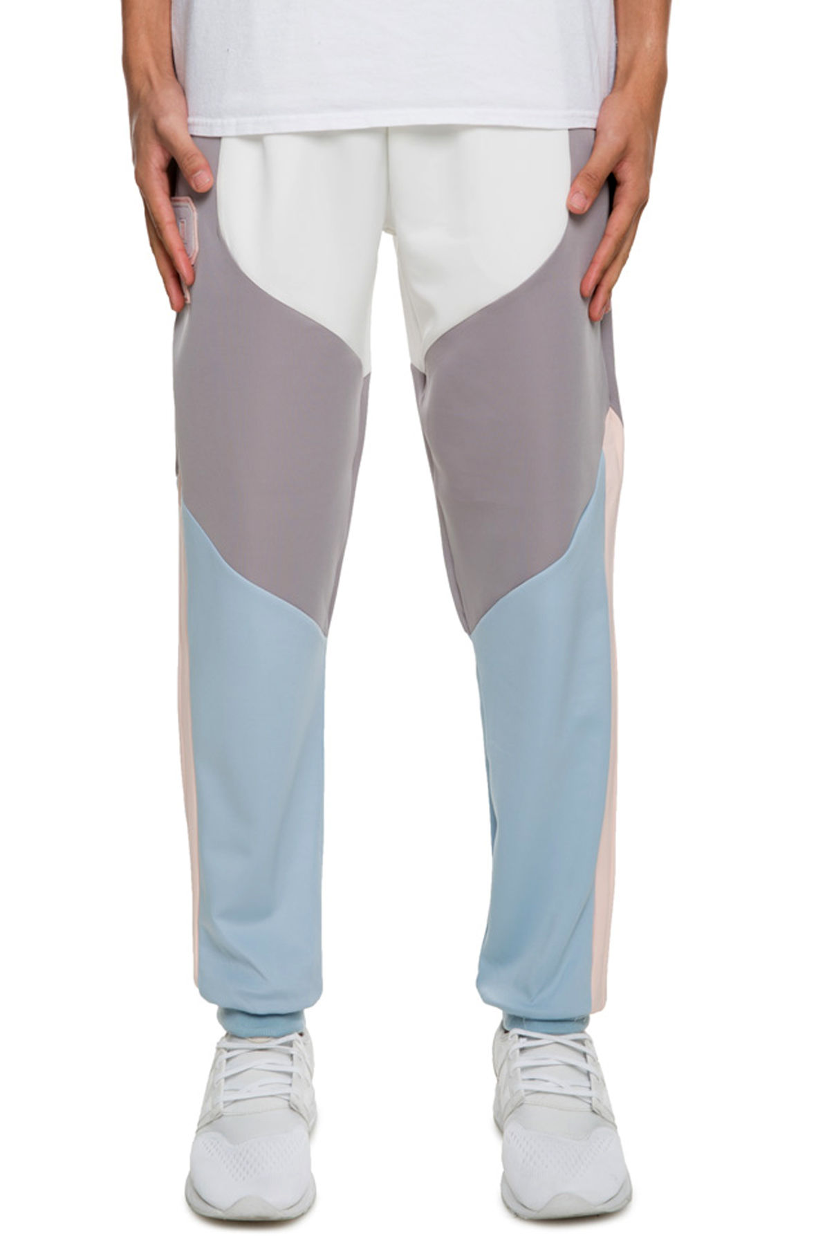 Image of The Bold Track Pant in Blue and Pink