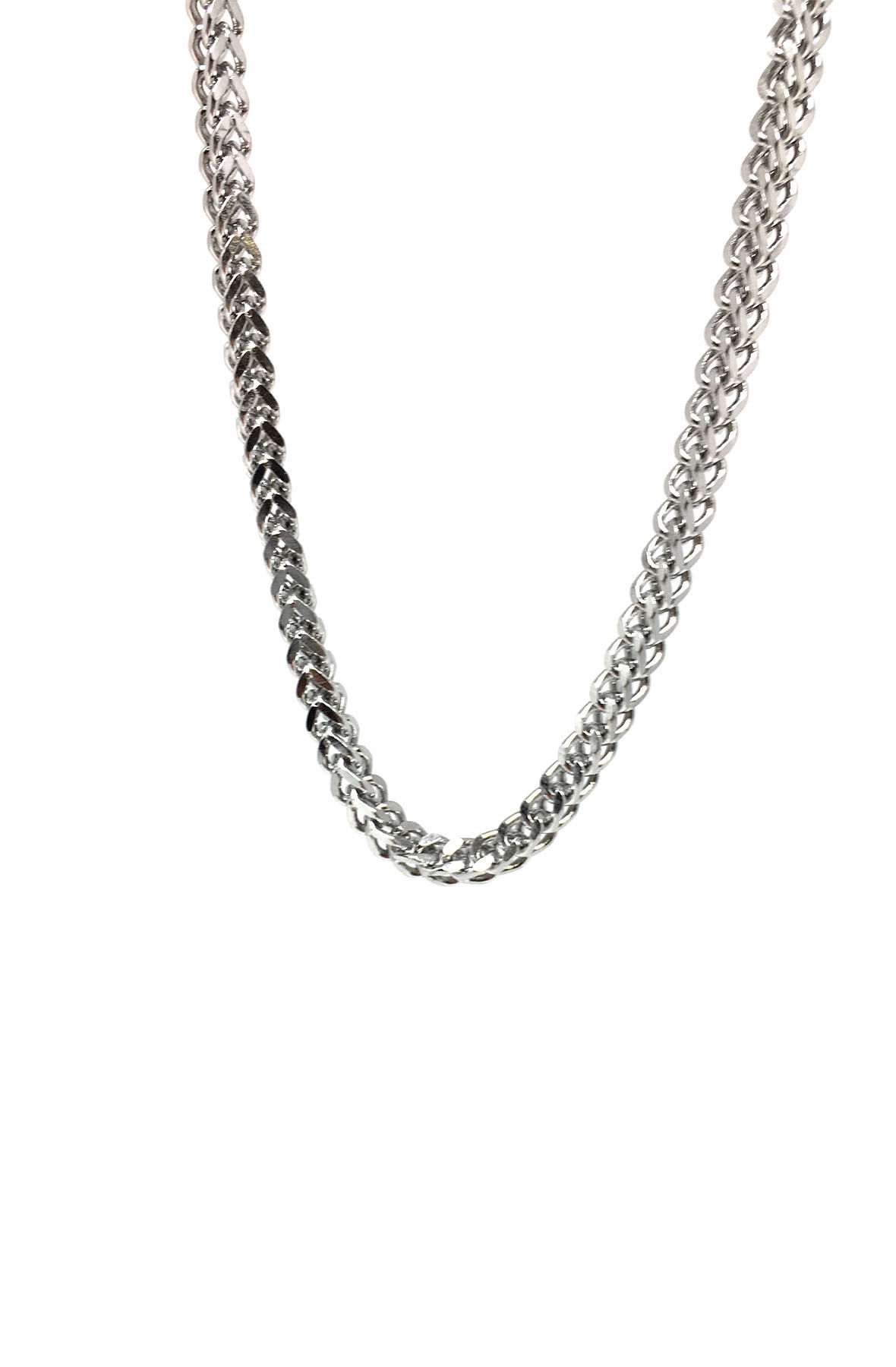 stainless steel silver franco chain