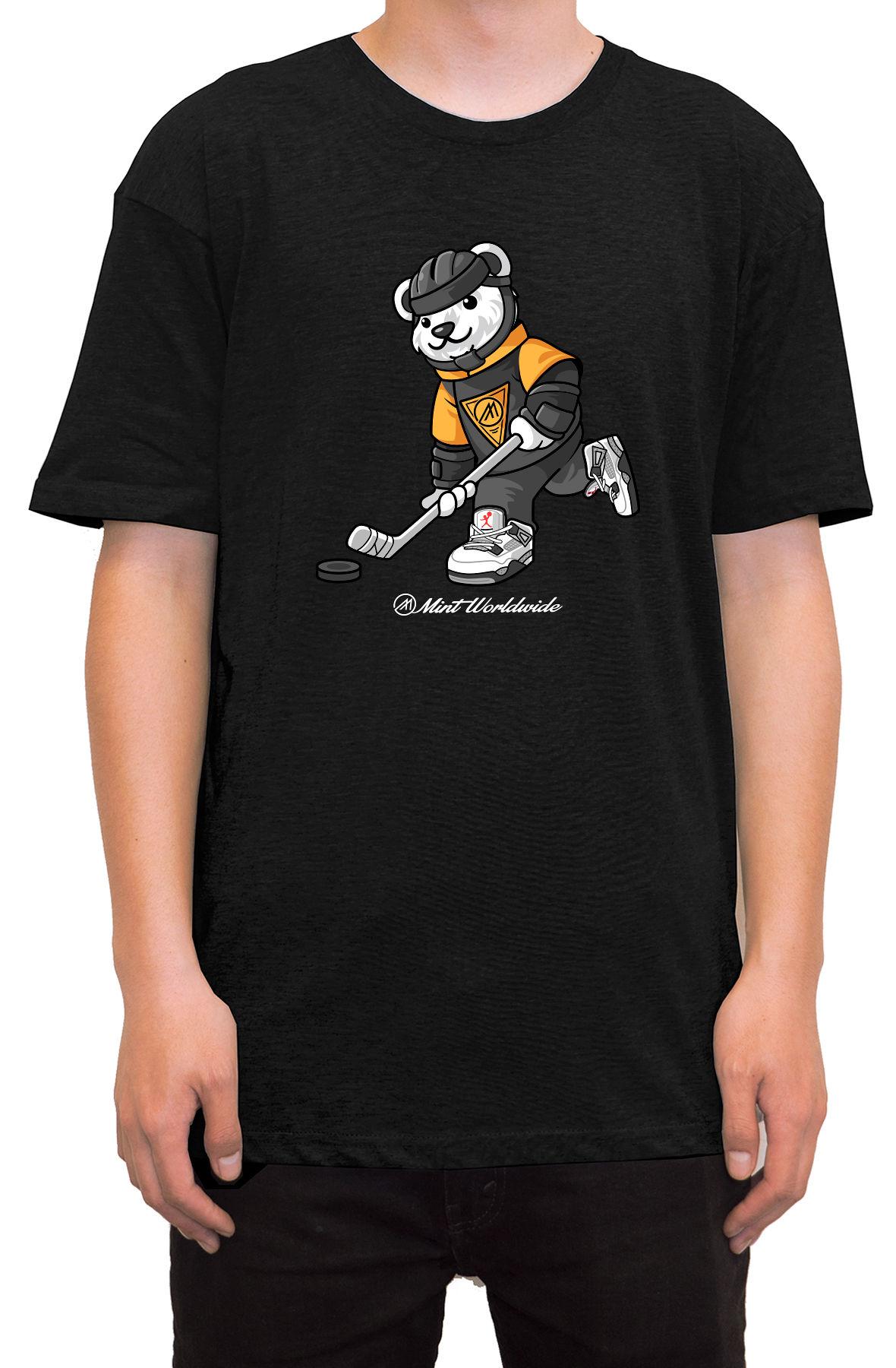 """""""Hockey Bear T-shirt """""""" Black"""""""