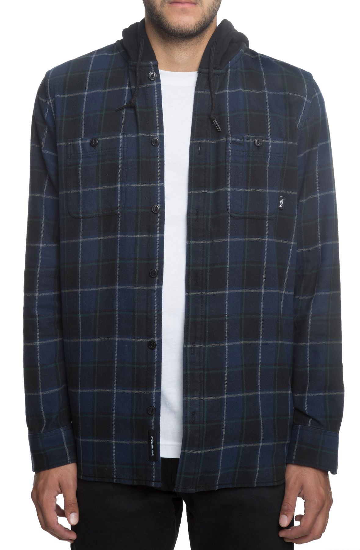 Image of The Lopes Hooded Flannel Combo in Dress Blues
