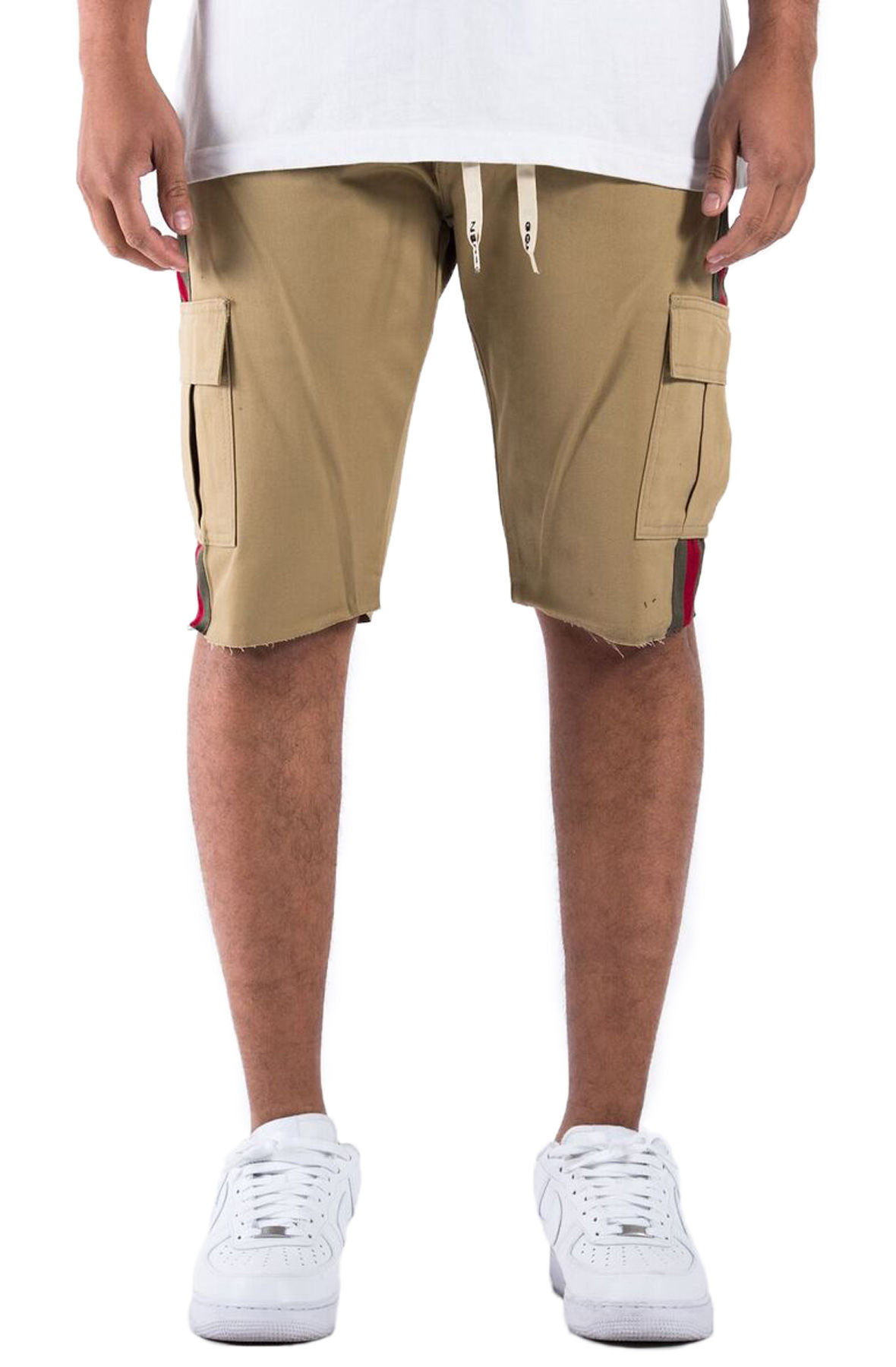 The Union Cargo Twill Shorts in Tan Italia Luxe