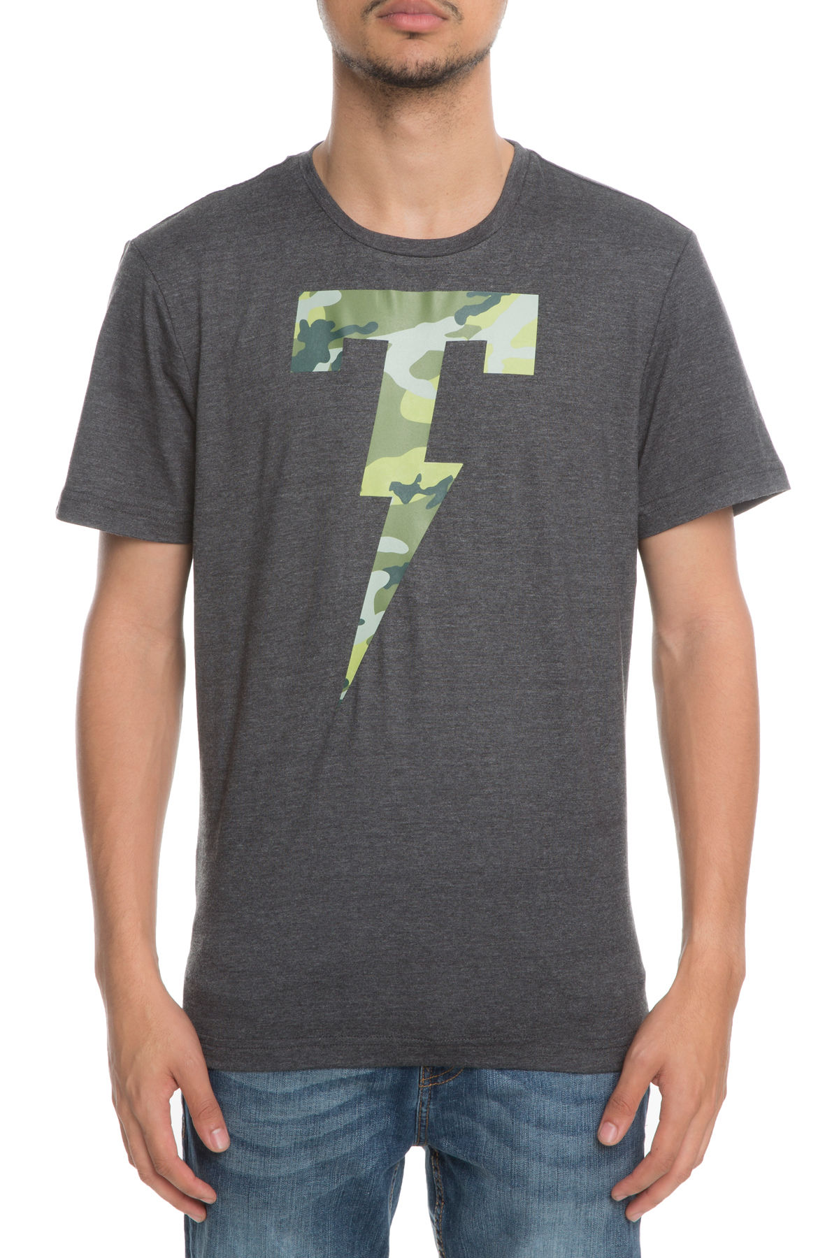 Image of The Camo Fill Short Sleeve Tee in Heather Grey