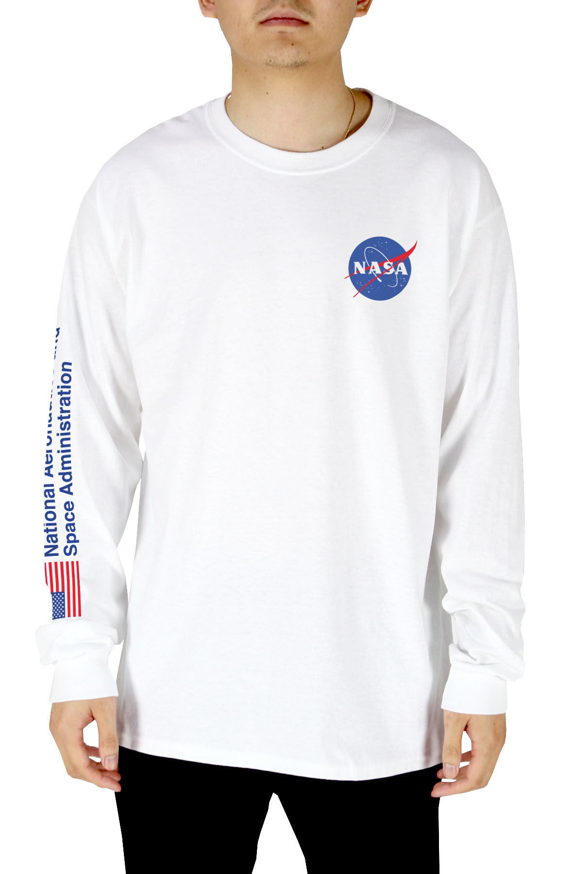 9c342ab1 NASA MEATBALL LOGO MENS LONG SLEEVE T-SHIRT