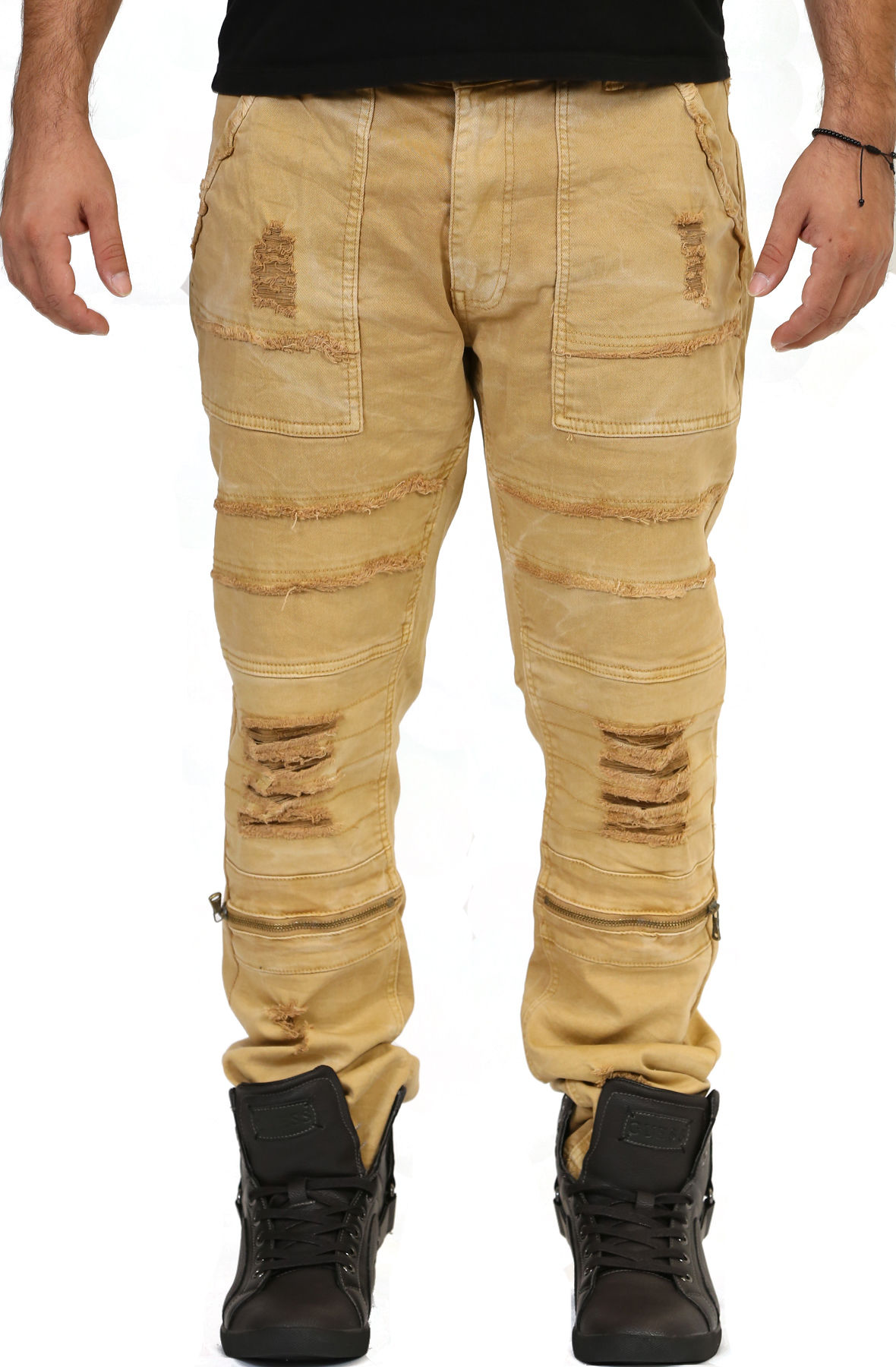 Image of Wheat Destroyed Jeans