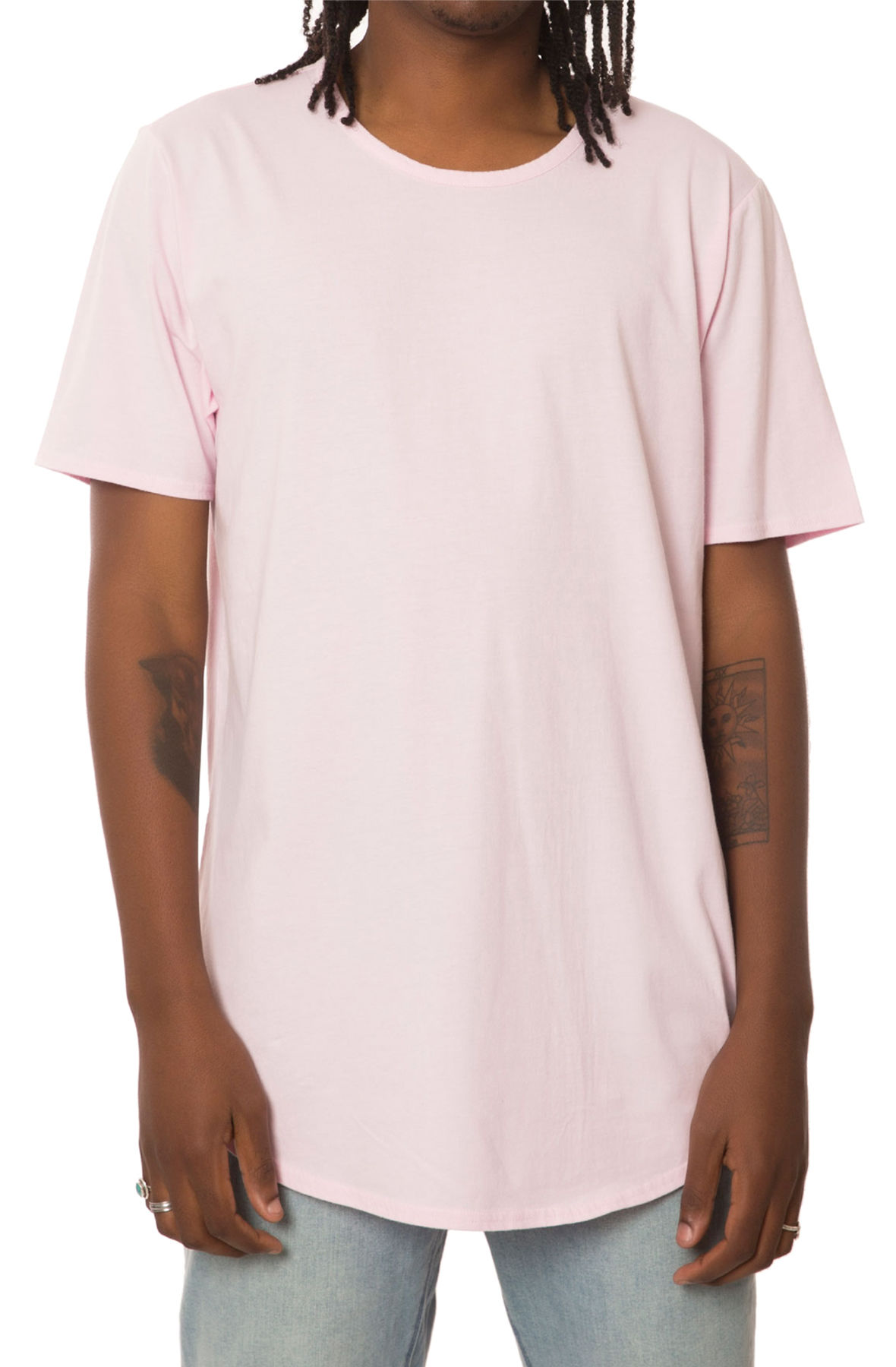 the curved hem tall tee in burnt pink