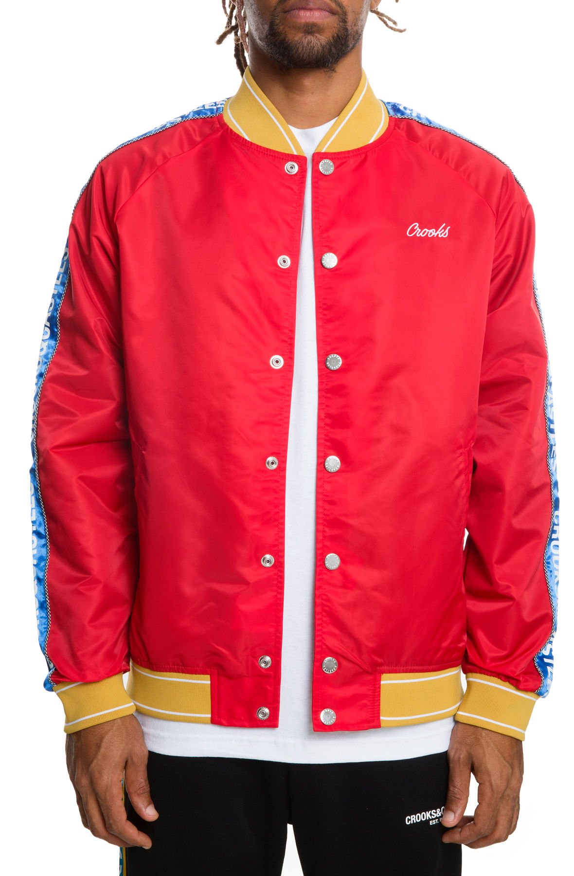 Image of The Reverse core Varsity Jacket in Red