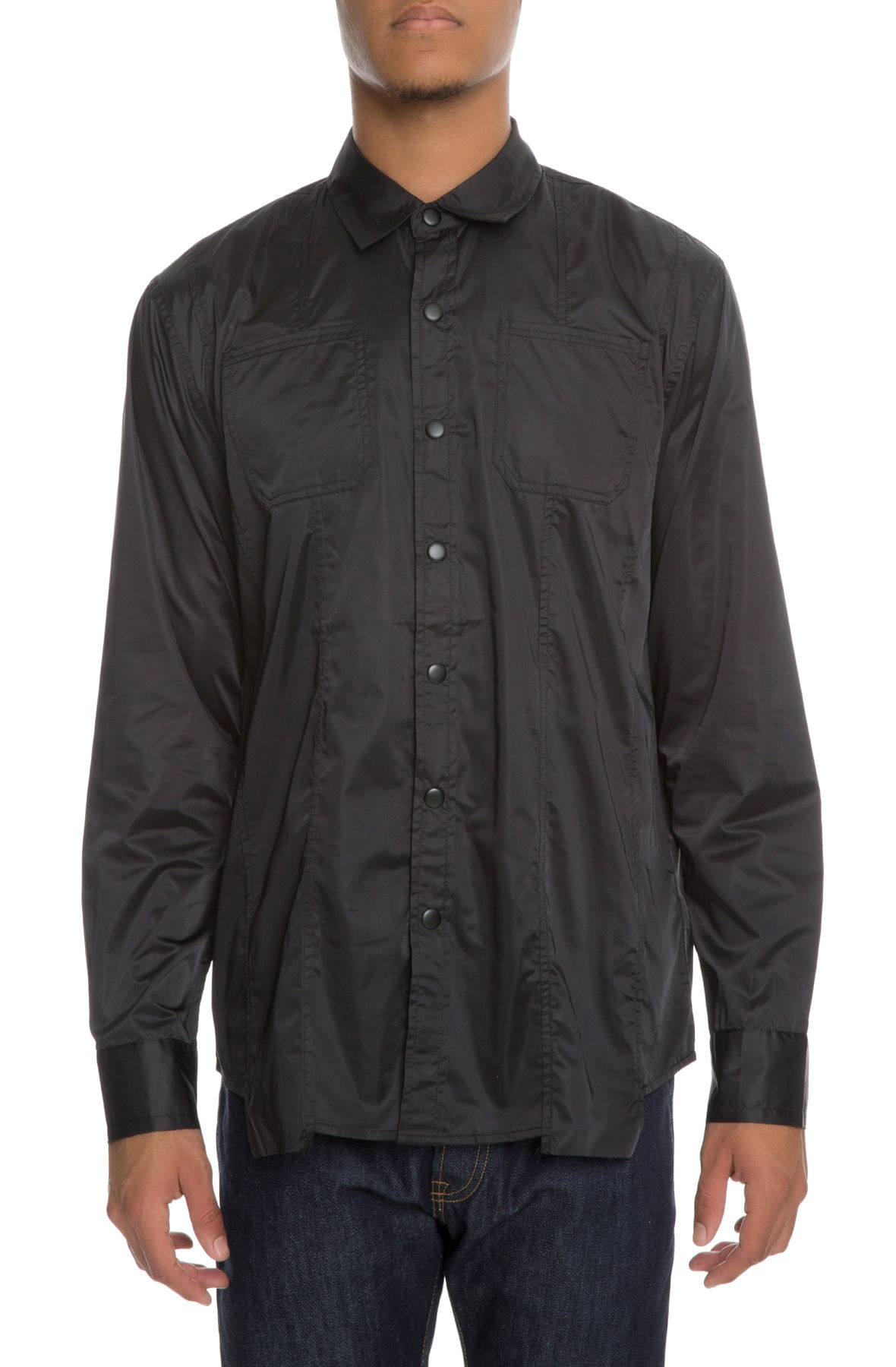 Image of The Falco Button Up in Vanta Black