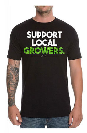 Image of MEN'S SUPPORT LOCAL GROWERS TEE
