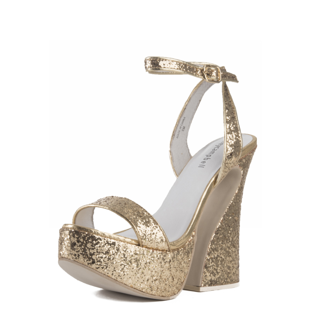 jeffrey campbell for women: kalika gold platform wedges