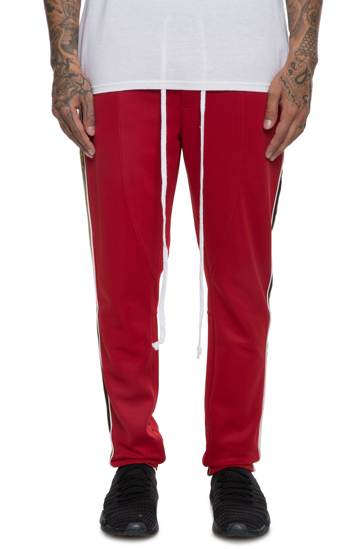 Image of The Jenner Track Pant in Red and Gold