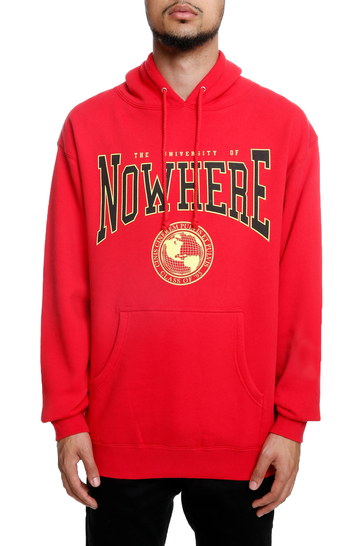 The Nowhere U Hoodie in Red