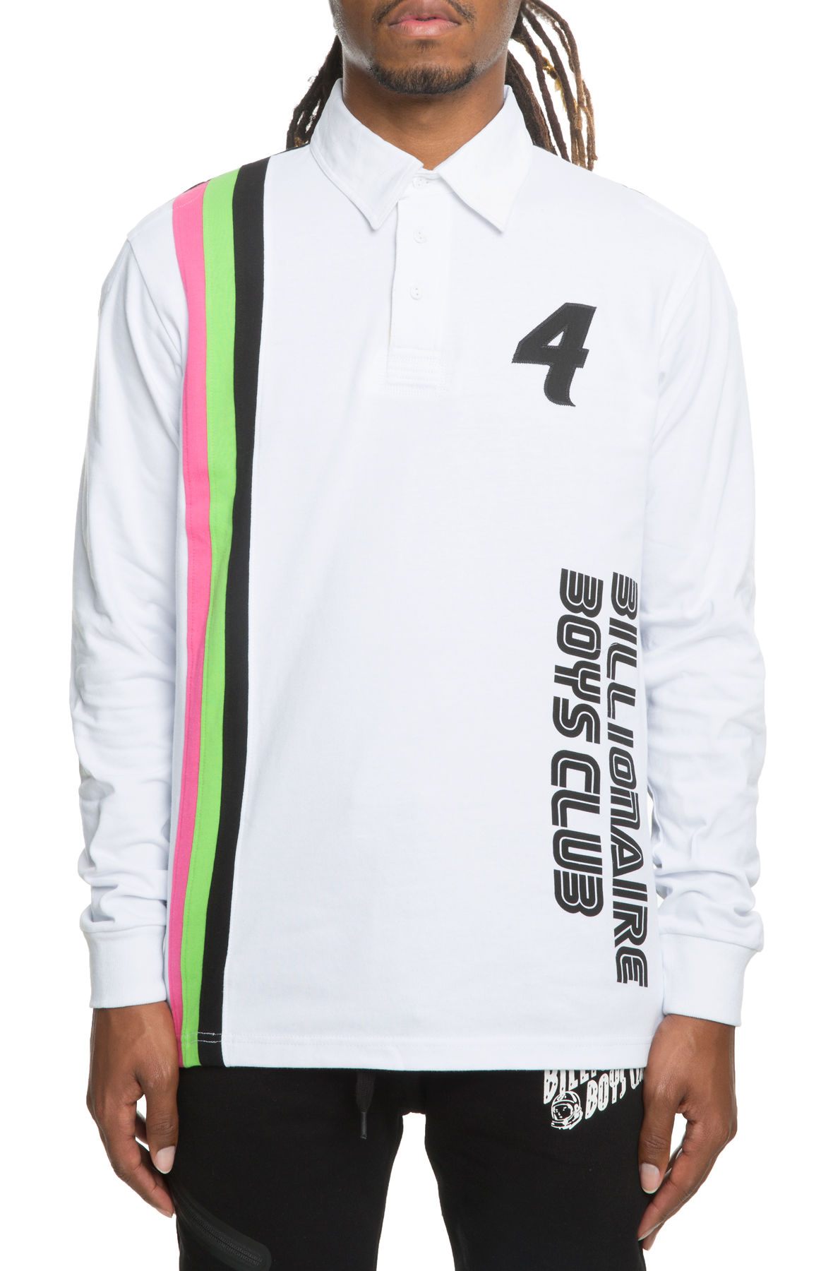 Image of The Podium Long Sleeve Polo in White