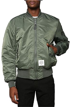 Image of The Prep Coterie MA-1 Lightweight Bomber Jacket in Army Green