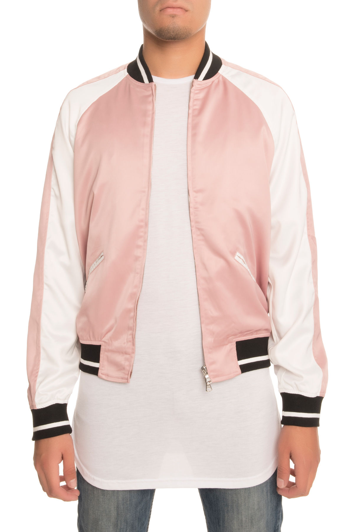 Image of The Strickland Souvenir Jacket in Pink