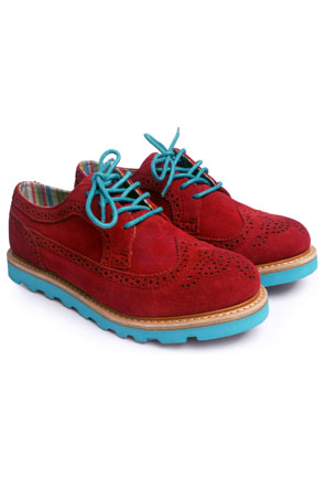 mint manhattan brogue red