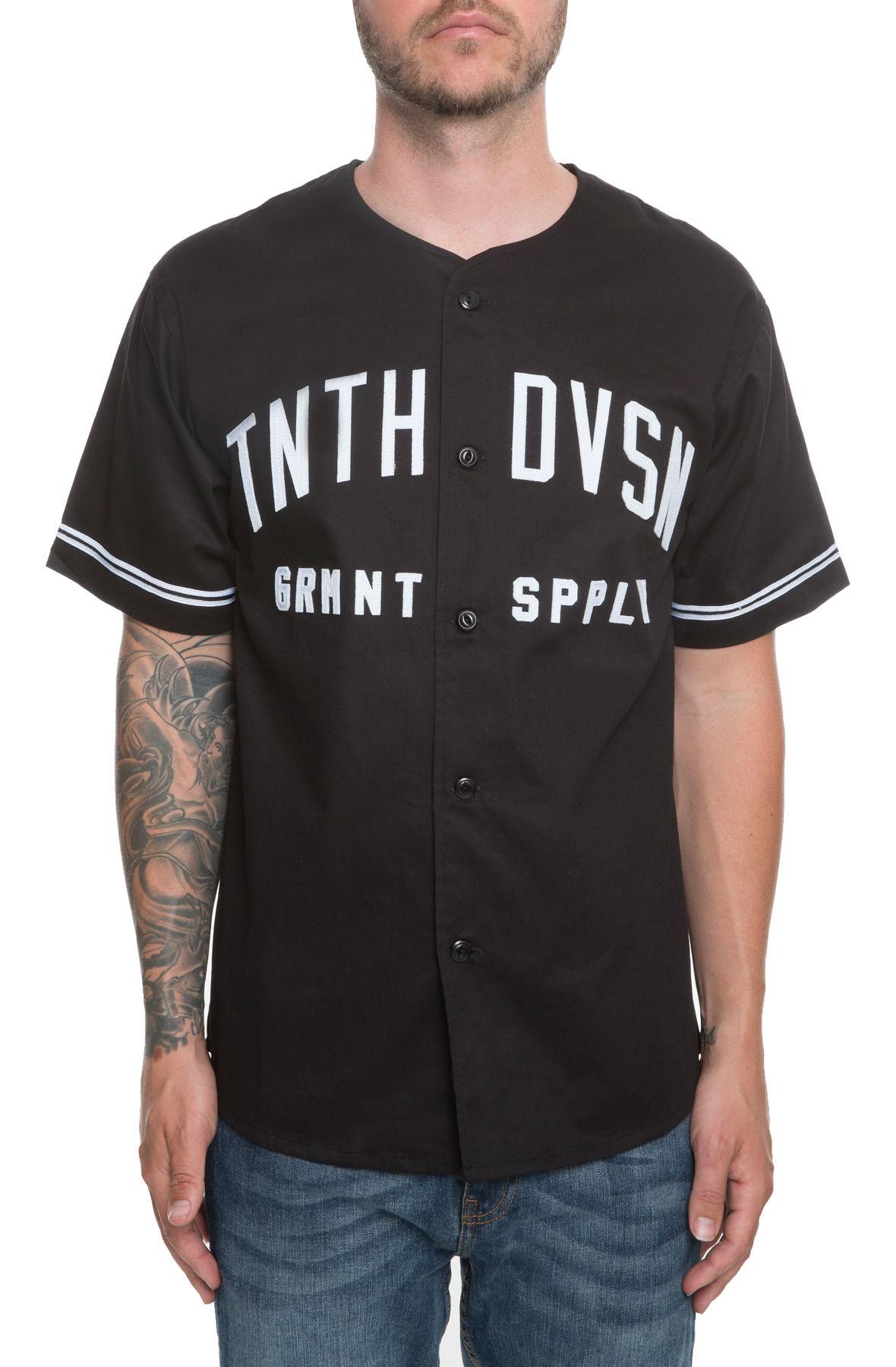 10 Deep XXX USA Barn League Baseball Jersey in Black