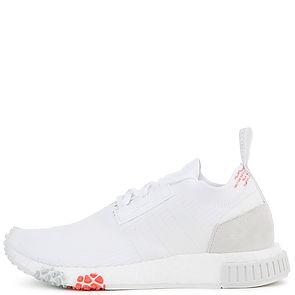 083b66183544e1 Adidas Sneaker Women s NMD Racer Primeknit White Trace Scarlet