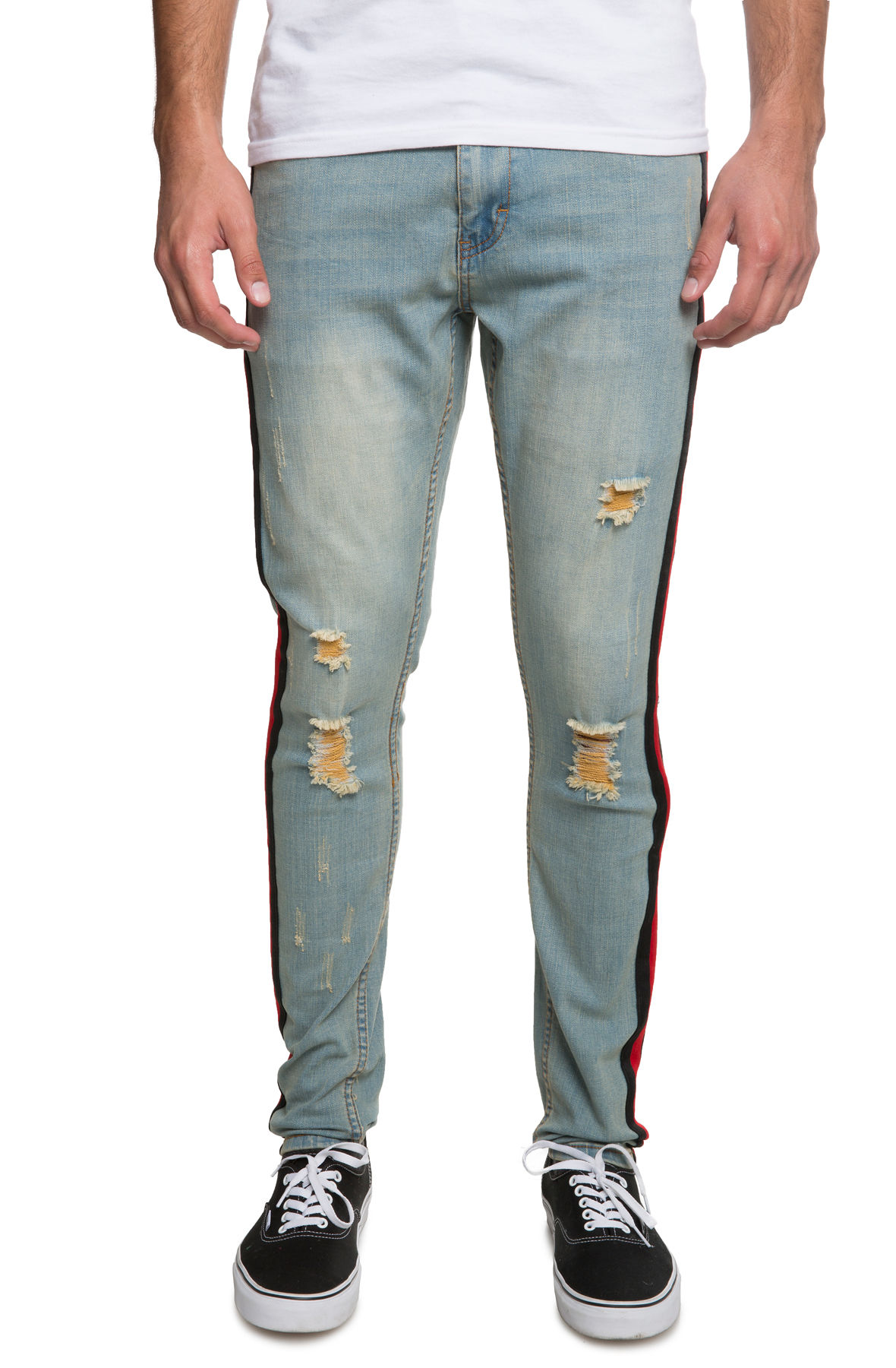 Image of The ''Double Helix'' Jeans in Earth Tone