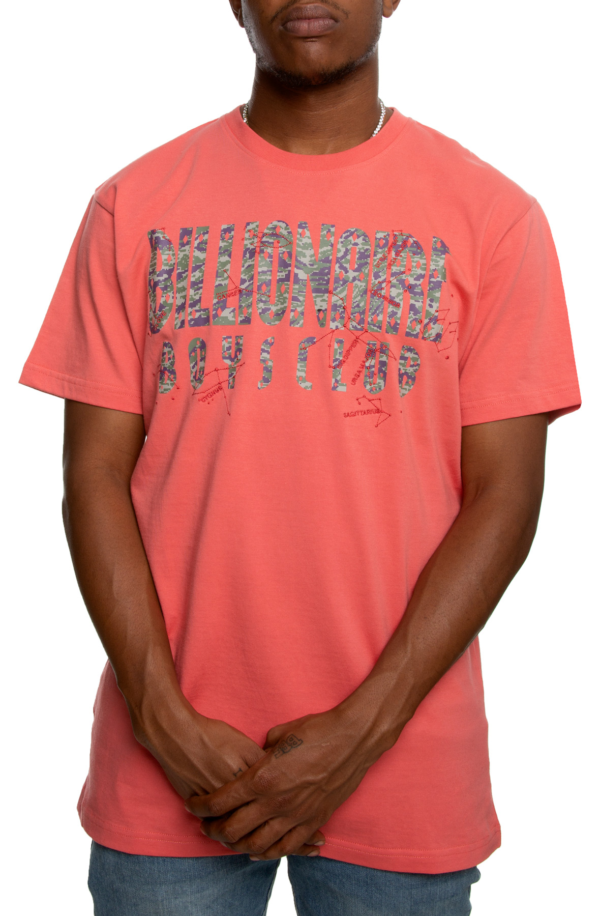 constellations short sleeve tee in rose of sharon