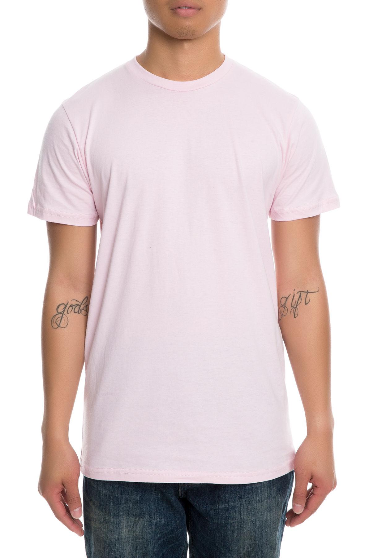 Image of The Men's Short Sleeve Crew in Light Pink