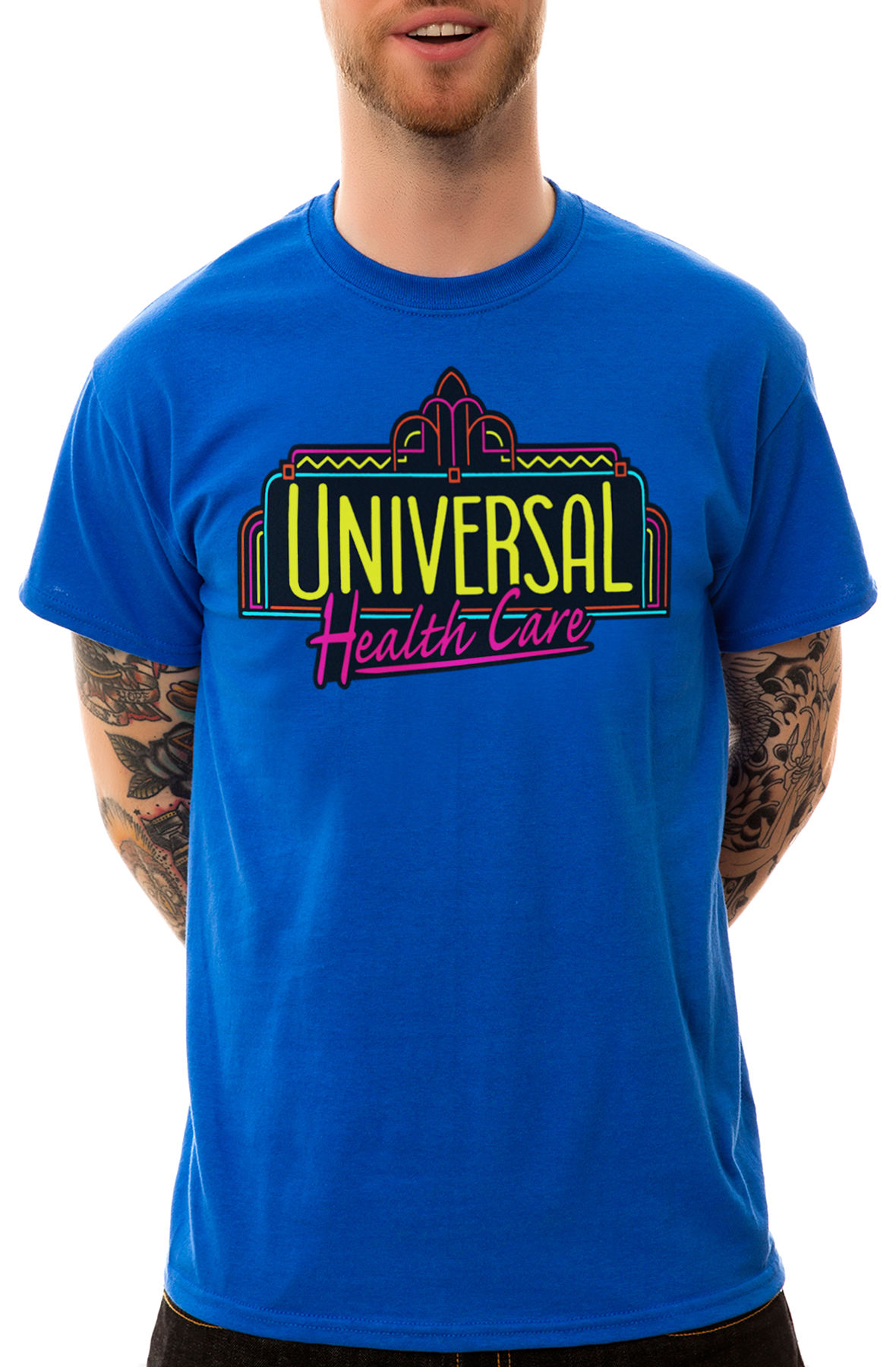 Image of The Universal Health Care Tee in Blue