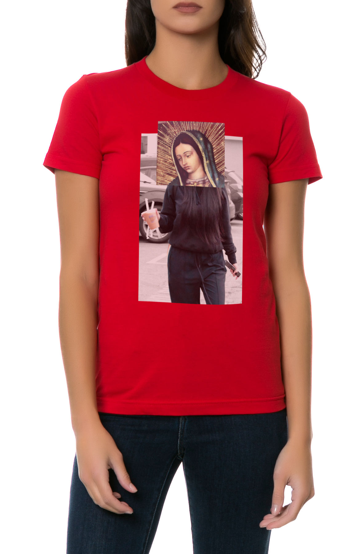 The Our Lady Tee in Red