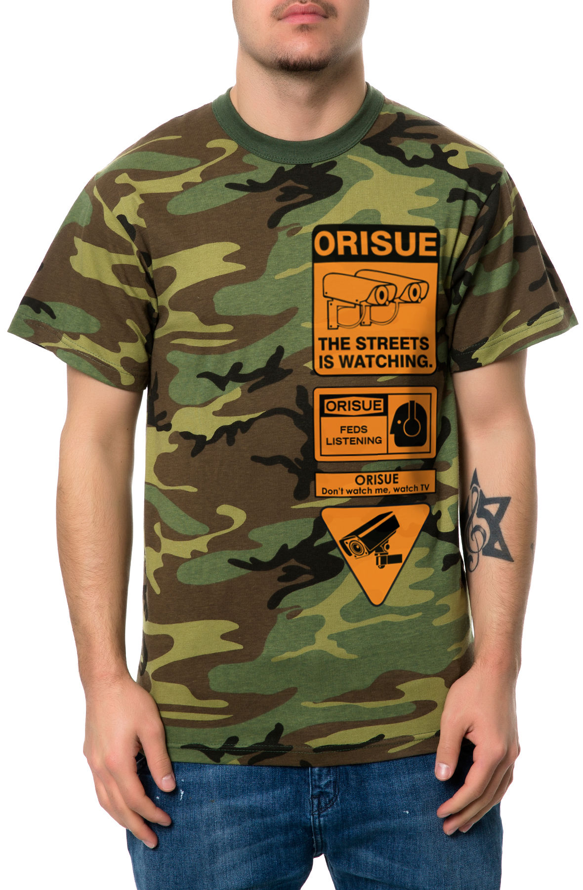 Image of The Surveillance Tee in Camo