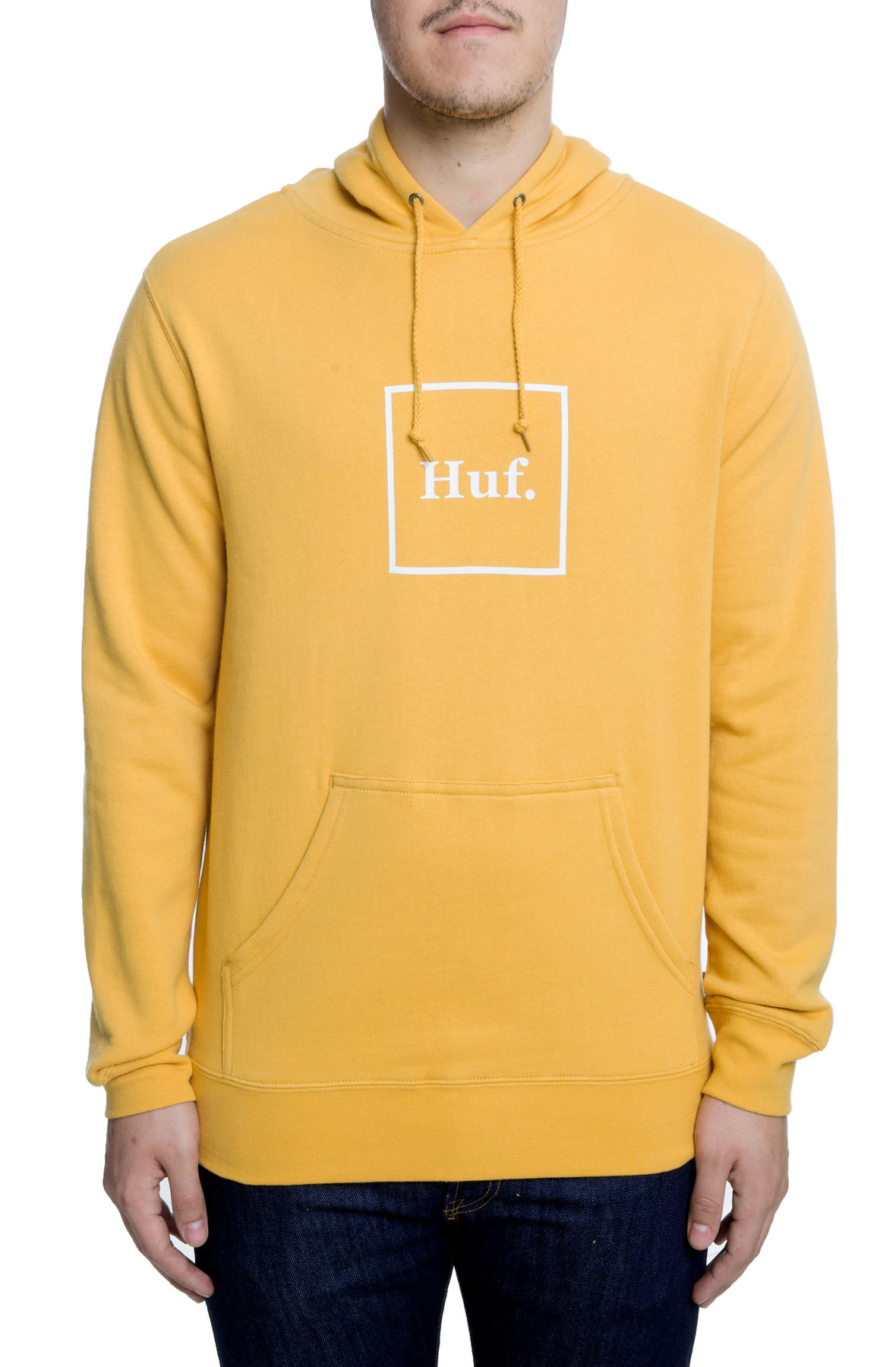 Image of The Box Logo Pullover Hoodie in Mineral Yellow
