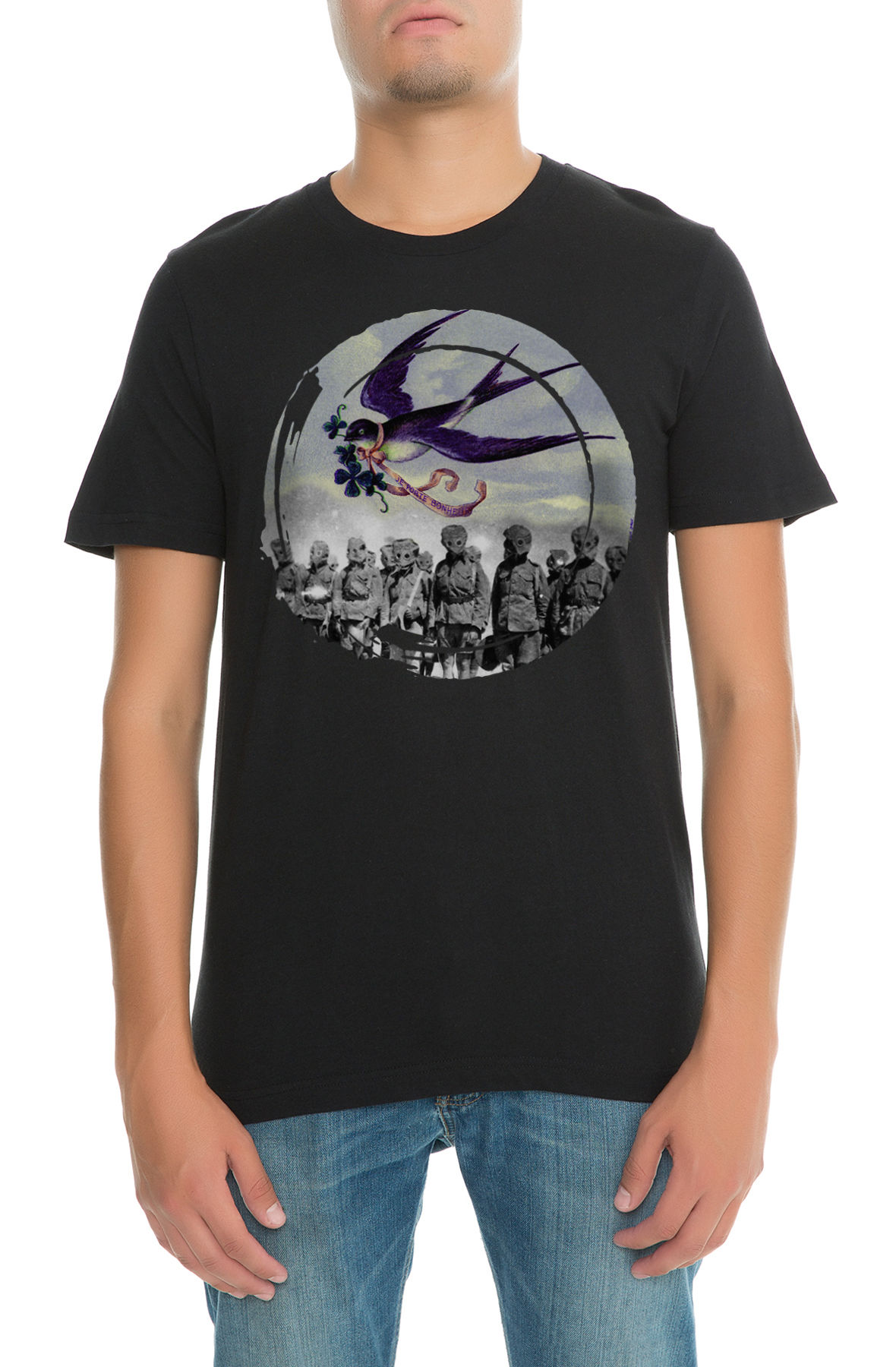 Image of The Lucky in War Tee in Black