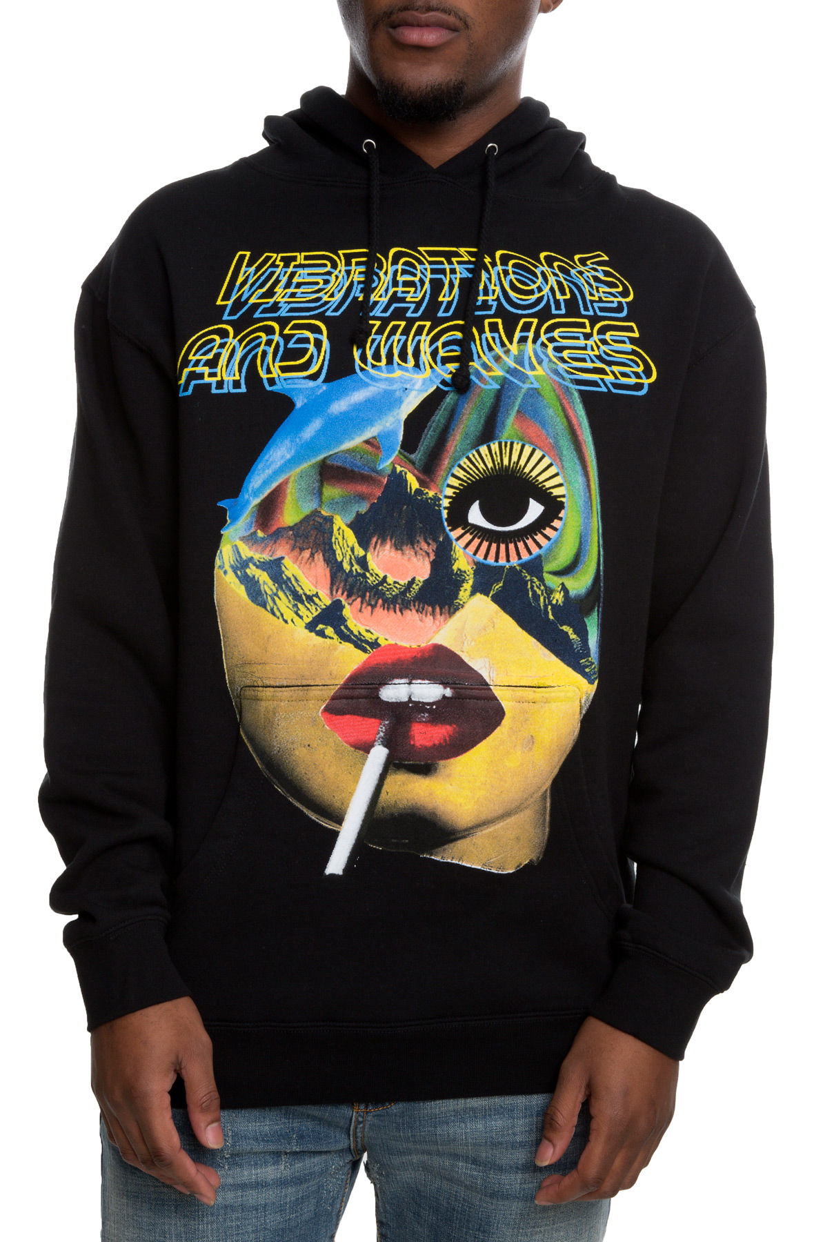 Image of The Vibrations+Waves Hoodie in Black