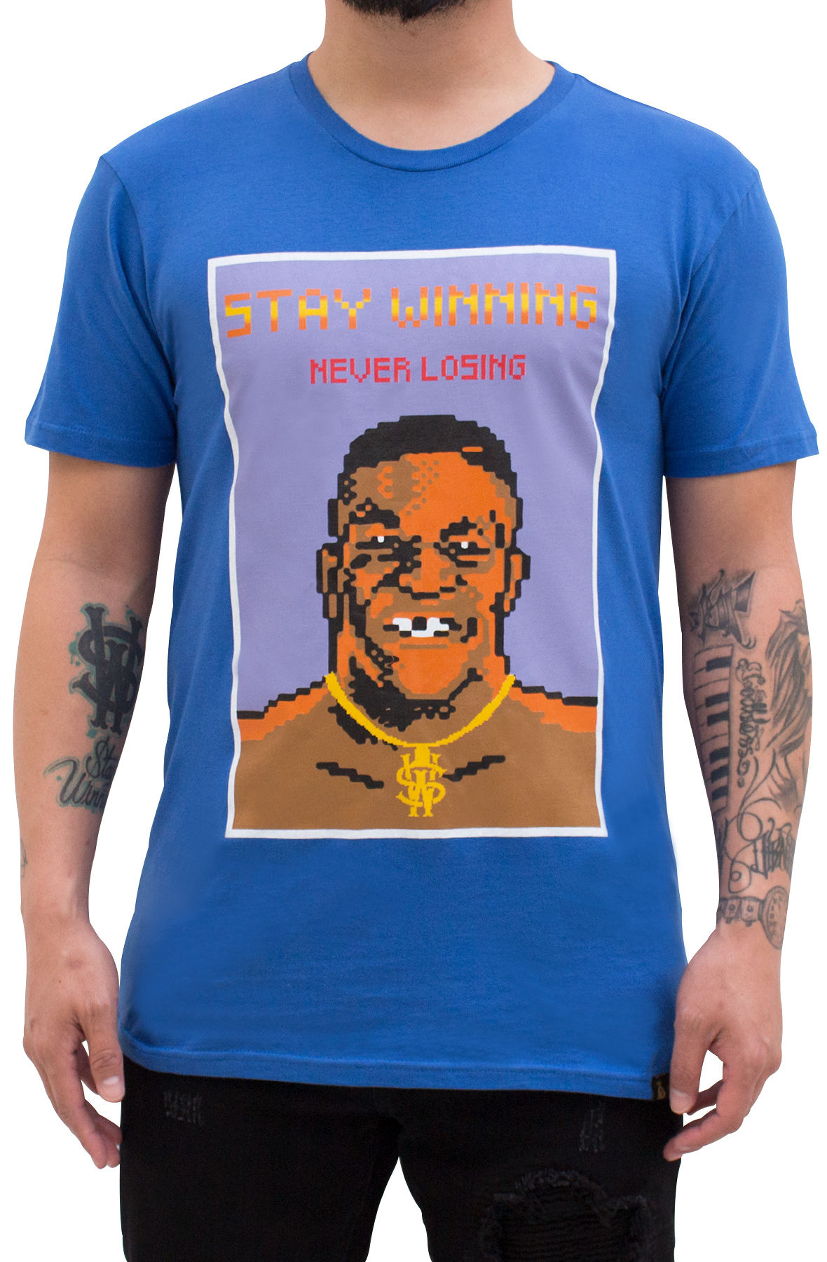Image of Stay Winning Punch Out Royal Blue Tee