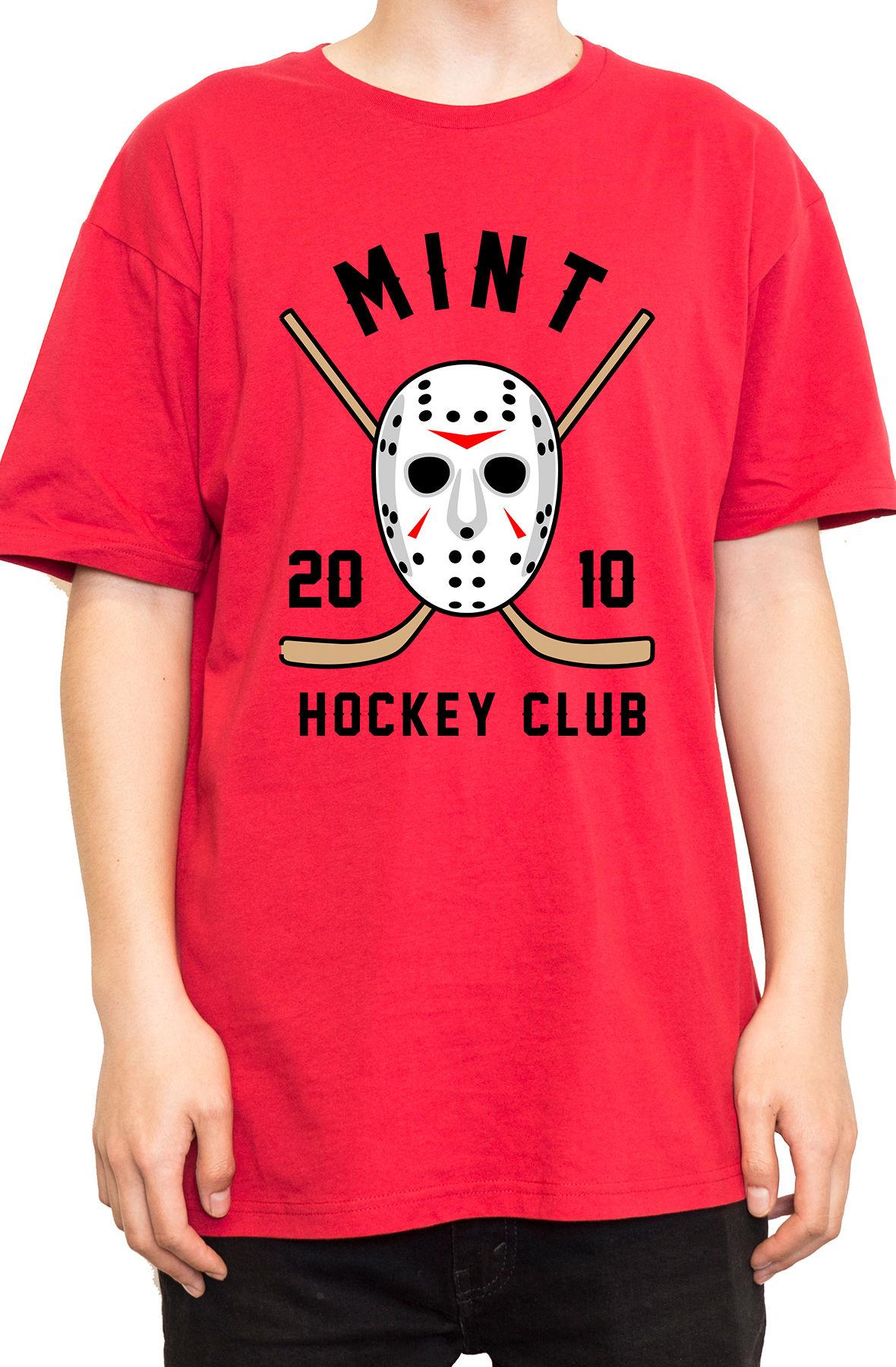 Mint Hockey Tee Red