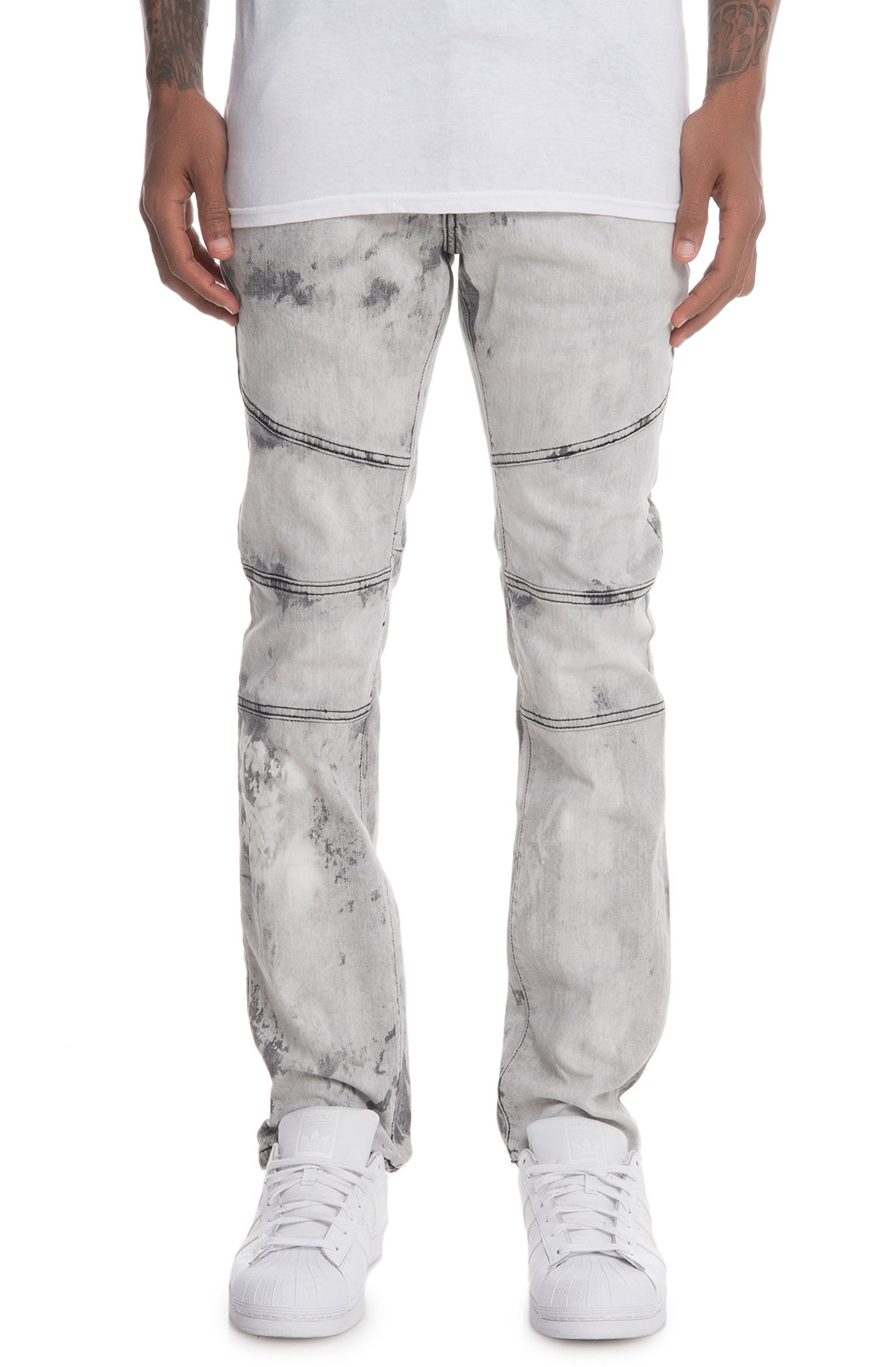 Image of The Euro - Arrowhead Denim Jeans in White
