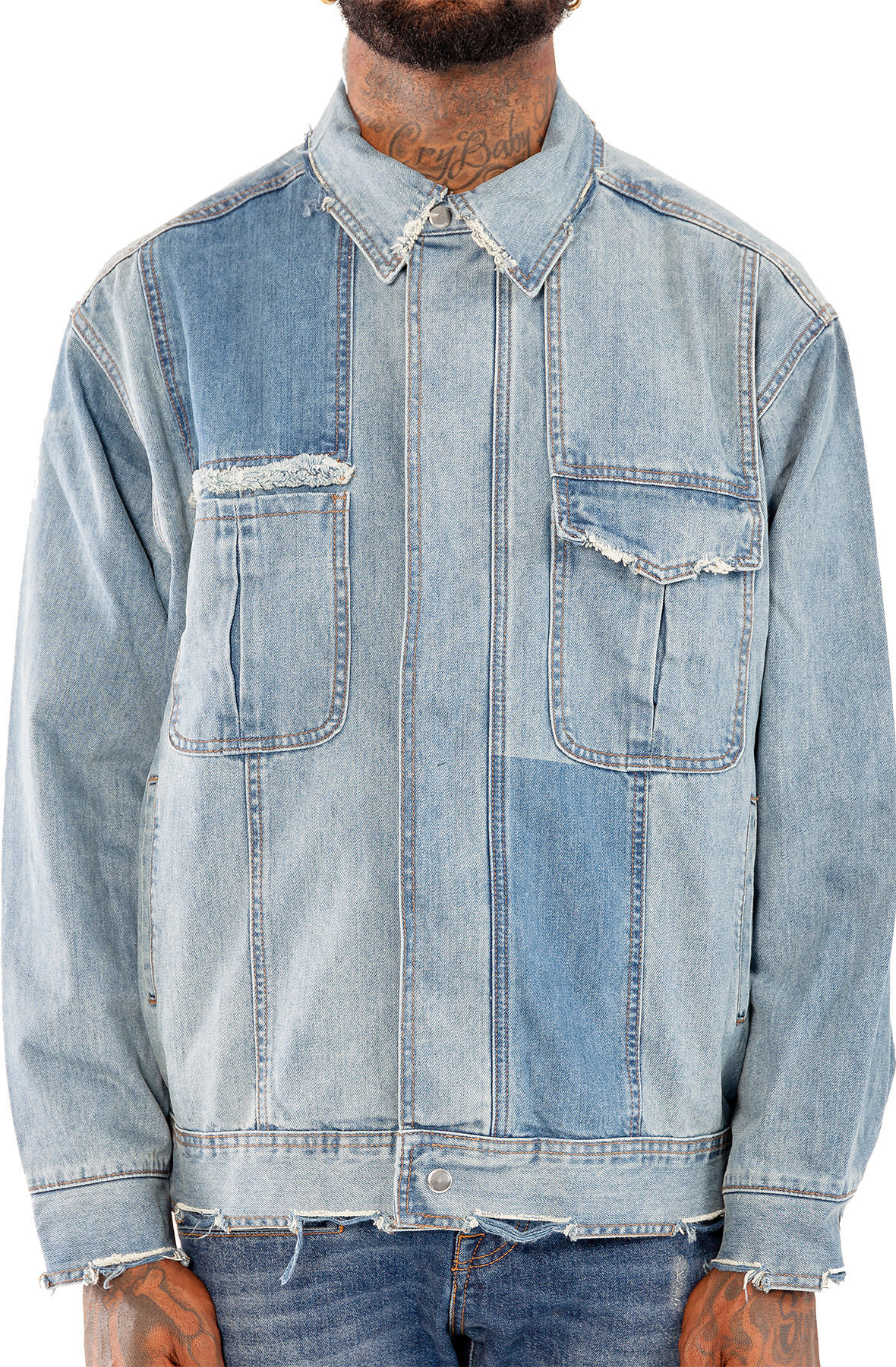 Image of Distressed Denim Jacket