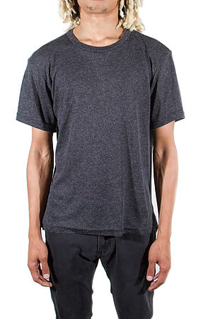 Image of Venice Knitted Short Sleeve Charcoal