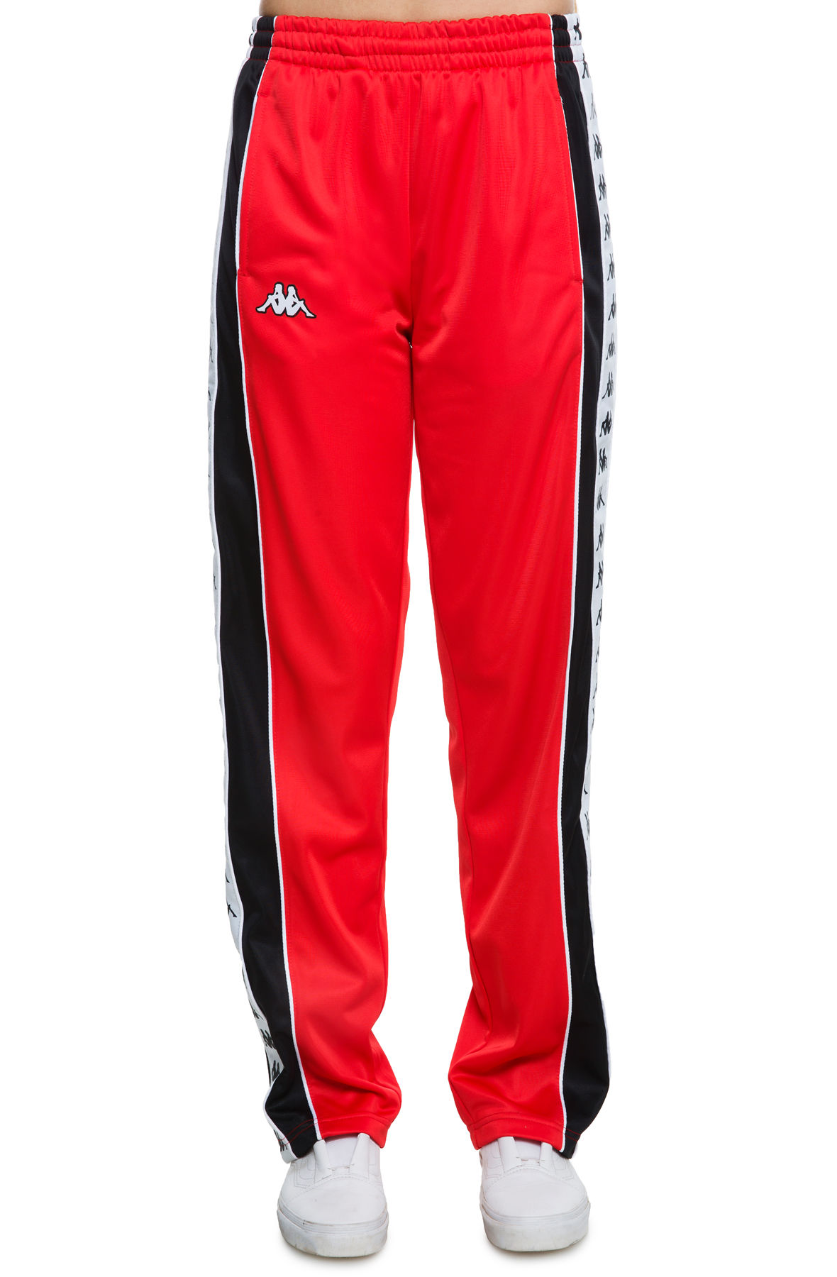 Image of The 222 Banda Big Bay Pant in Red; Black; and White