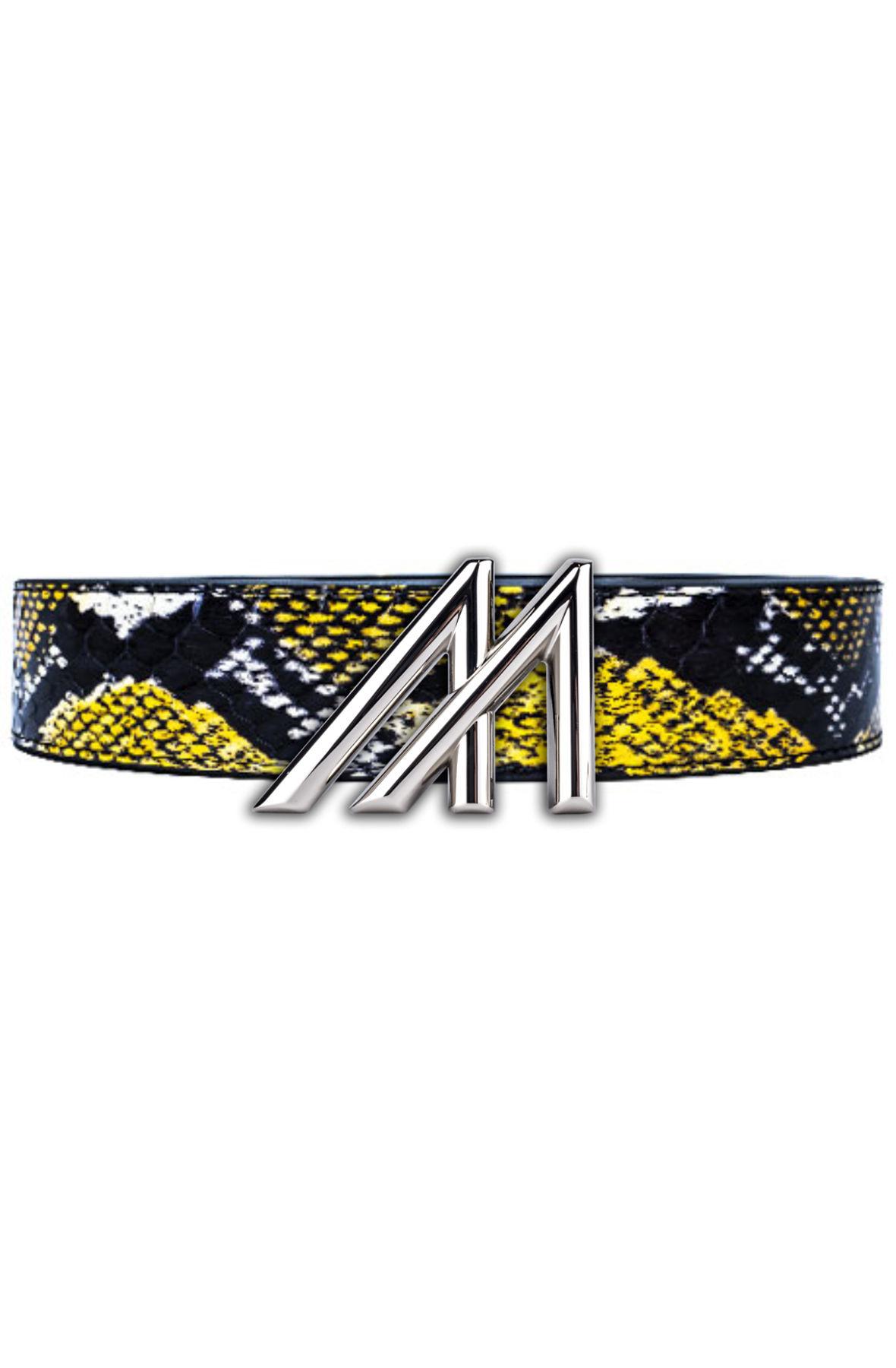 Image of Mint Yellow Tricolor 2 King Cobra Belt - Platinum M