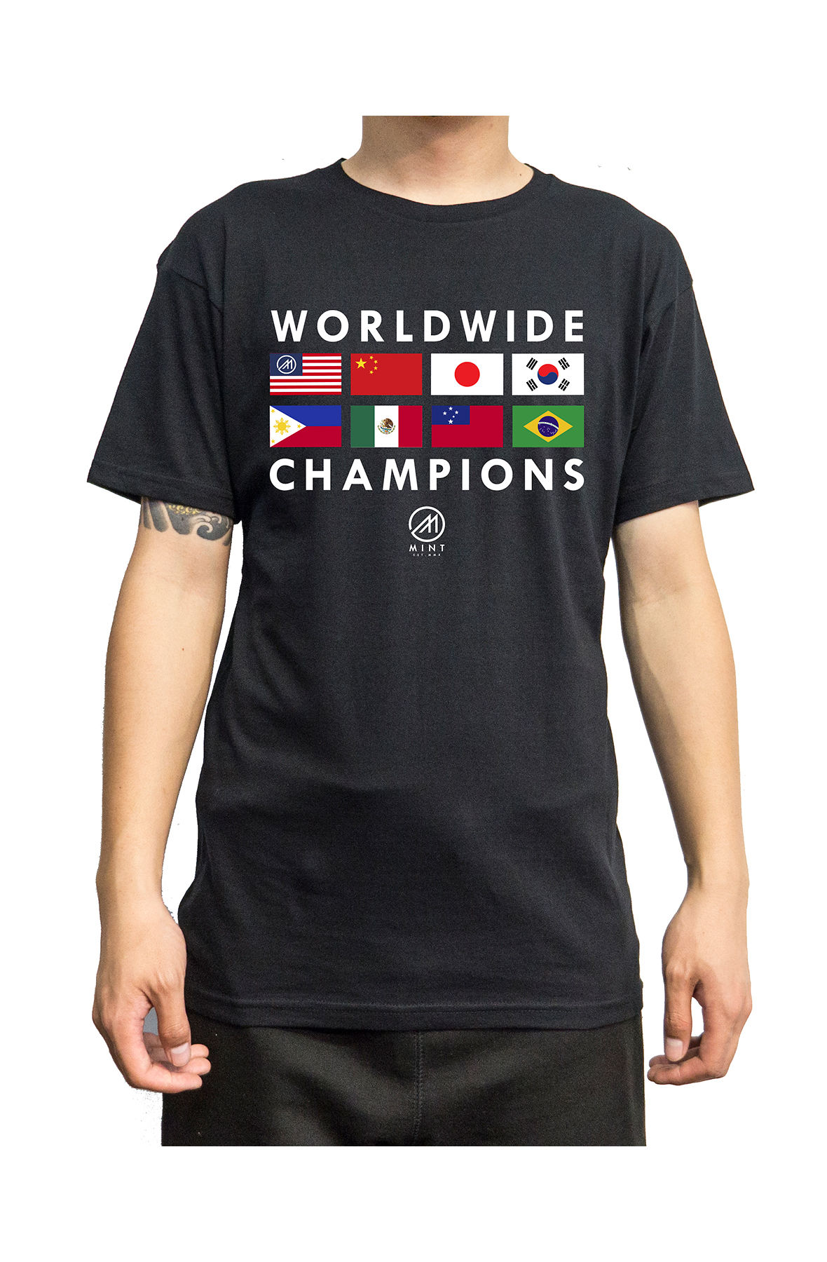 Image of The Mint Flags 2 Tee 2X-3X in Black