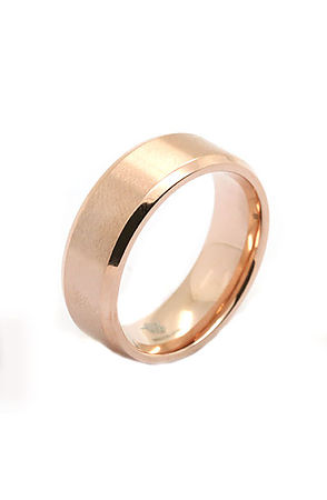 The Brushed 18k Rose Gold Plated Stainless Steel Ring in Rose Gold